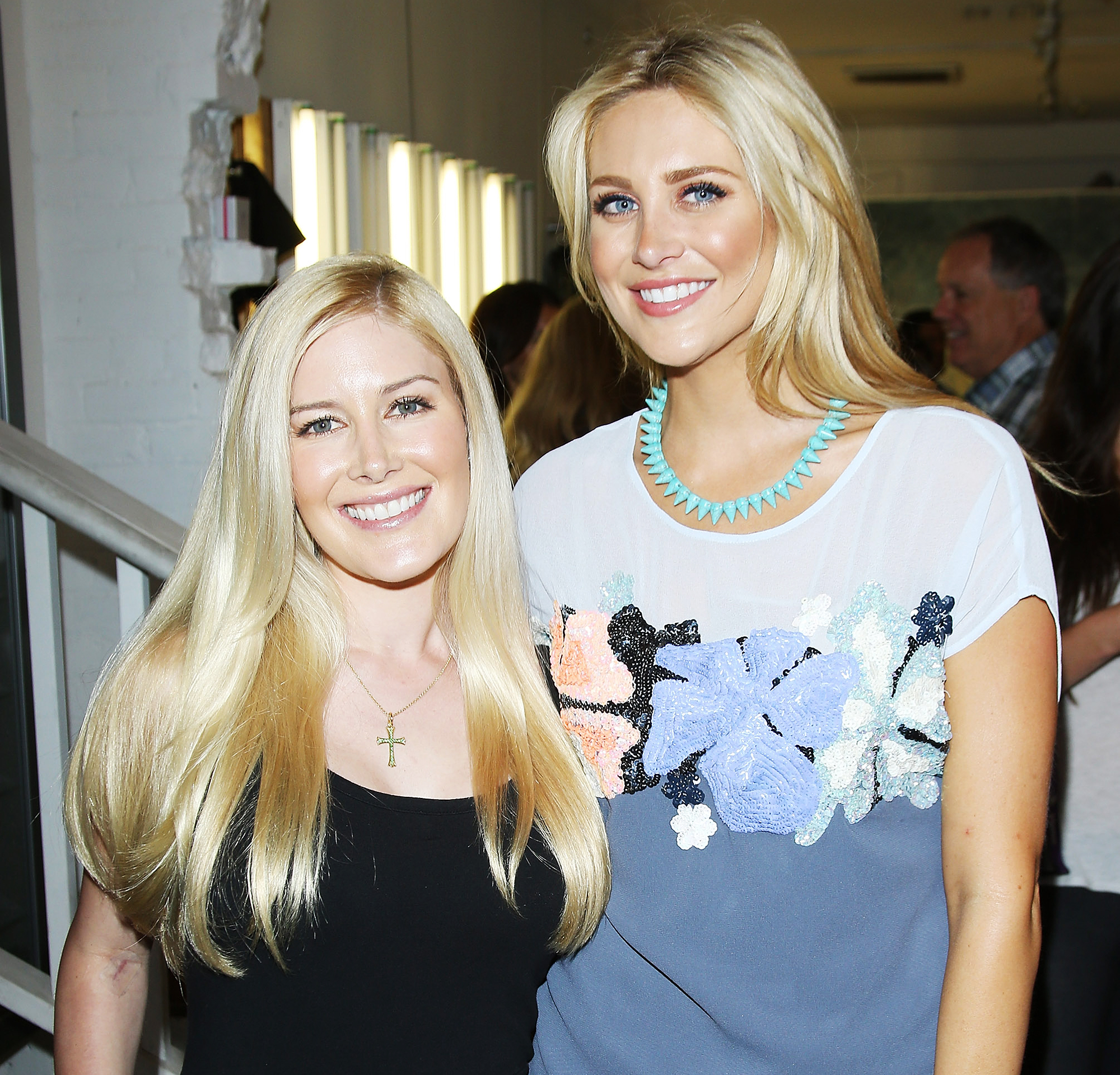 """Heidi-Pratt-and-Stephanie-Pratt-pregnancy - Us broke the news in April 2017 that Speidi was expecting their first child . Weeks later, Stephanie confessed to OK! that she had """"no idea"""" about the pregnancy ."""