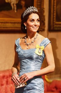 Crown Duchess Kate middleton crown jewels The Imperial State Crown blue dress state dinner