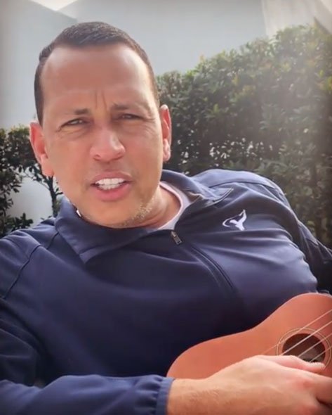 """Alex Rodriguez How the Celebs are Celebrating Easter - """"Just a lil' something to make you smile on Easterrrr...🎶🎶 🐣😂💗. HAPPY EASTER EVERYONE!!"""" Lopez wrote alongside a video of her love strumming on a banjo."""