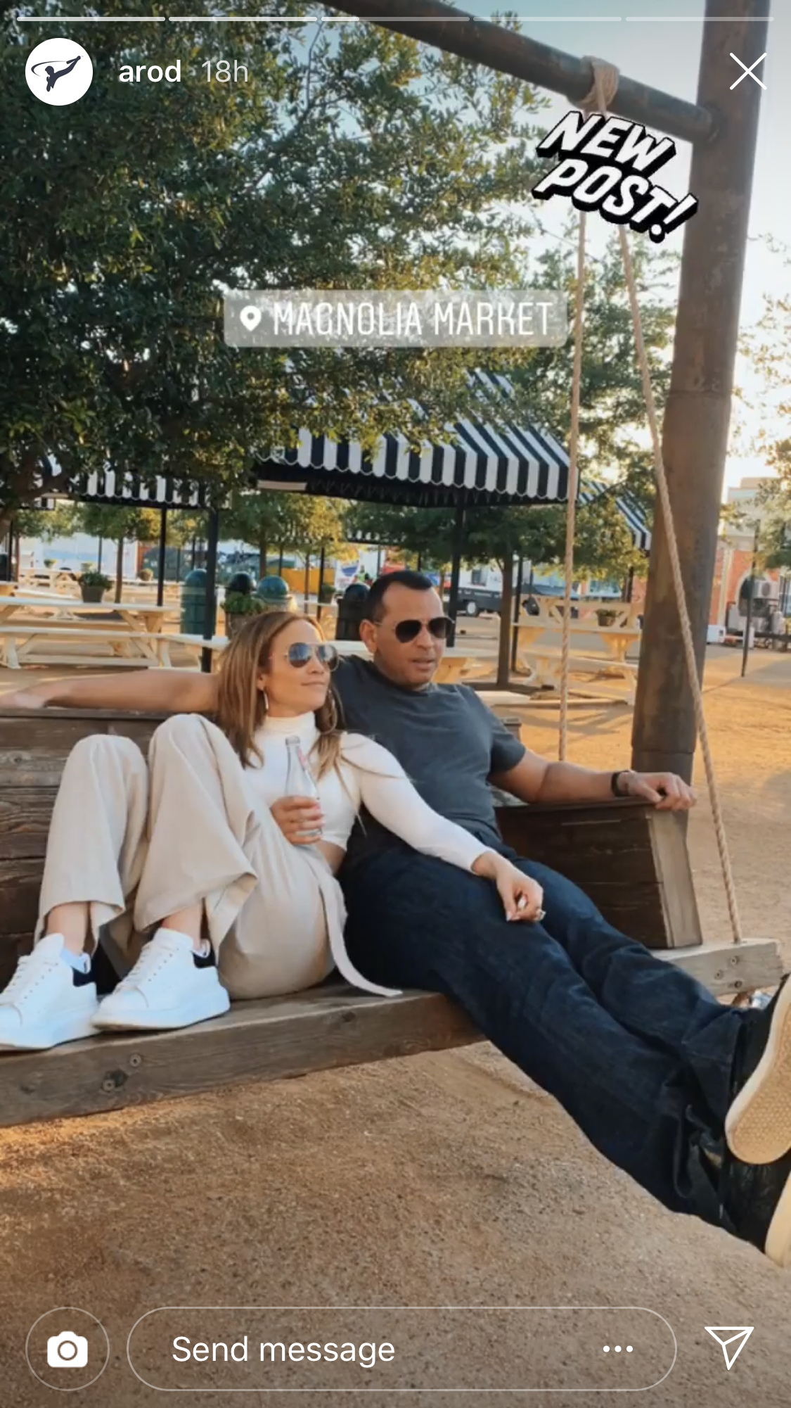 "Jennifer Lopez, Alex Rodriguez Meet Up With Chip and Joanna Gaines: Pics - Lopez and Rodriguez, who got engaged in March, visited the Gaines' Magnolia Market on Saturday and both shared a photo of a plaque with the words, ""The world needs who you were made to be."" ""Words to live by,"" the athlete commented."