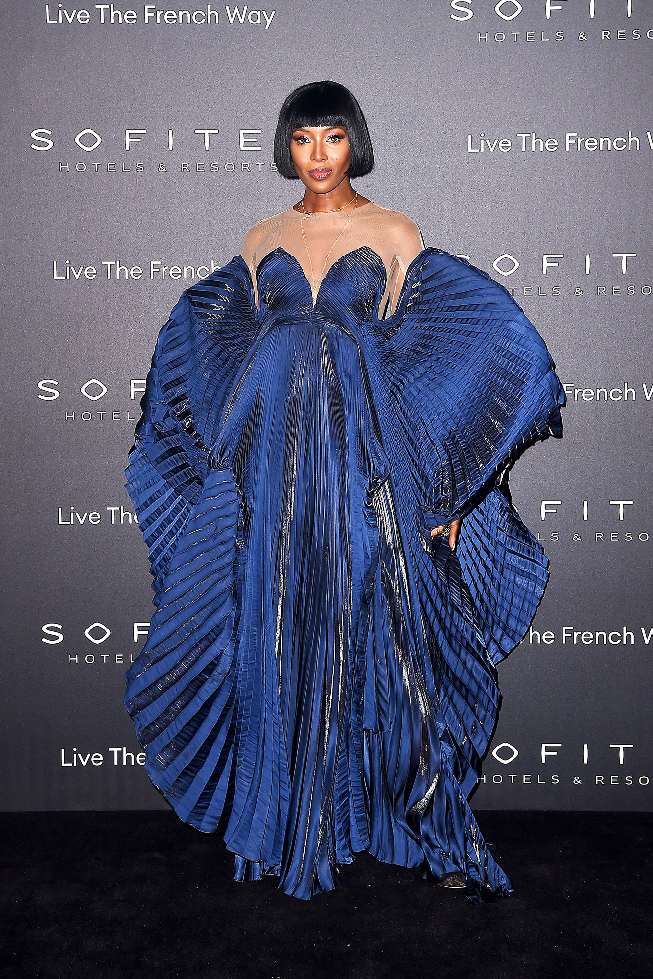 Iris van Herpen Naomi Campbell - In a hand-pleated crystal satin creation on Feb. 28.