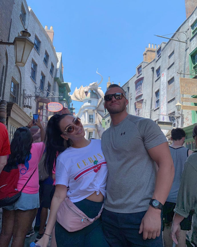 JWoww's 'Jersey Shore' Pals Show Support for Her New Boyfriend As They Visit Harry Potter World Instagram Diagon Alley Jwoww and Zack Clayton Carpinello - JWoww's 'Jersey Shore' Pals Show Support for Her New Boyfriend As They Visit Harry Potter World SnapChat