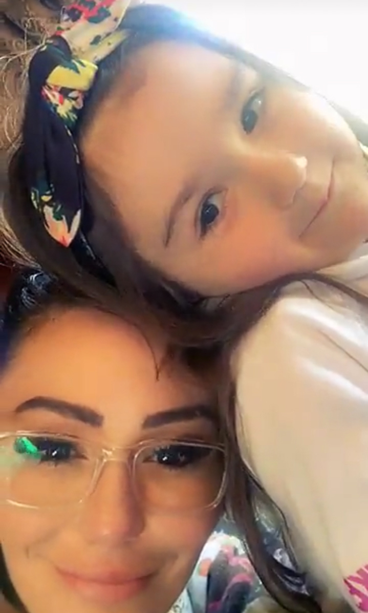 JWoww and Roger Mathews Reunite for Easter Train Ride With Kids - Farley shared via Instagram in February that her kids were her valentines amid drama with her estranged husband.