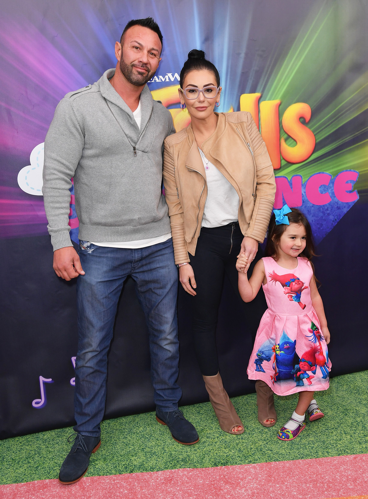 JWoww and Roger Mathews Reunite for Easter Train Ride With Kids - Roger Mathews, Jenni Farley and Meilani Mathews attend DreamWorks Trolls The Experience on November 14, 2018 in New York City.