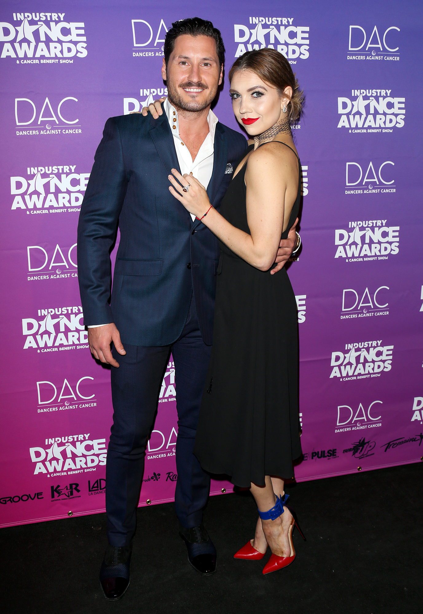 "Jenna Johnson and Val Chmerkovskiy Timeline Gallery 2017 - Val professed his love for Johnson at the 2017 Industry Dance Awards and Cancer Benefit Show. He told Insider that he had ""the wedding bug"" after watching his brother and gushed, ""I'm in a great place and I'm in love — I'm very grateful for that."""