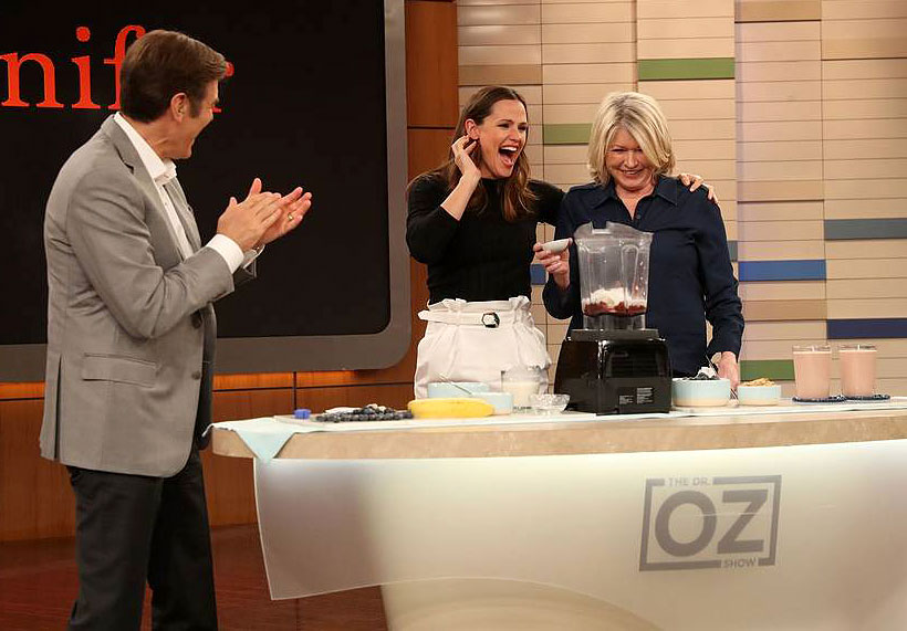 Jennifer Garner Dr Oz Martha Stewart