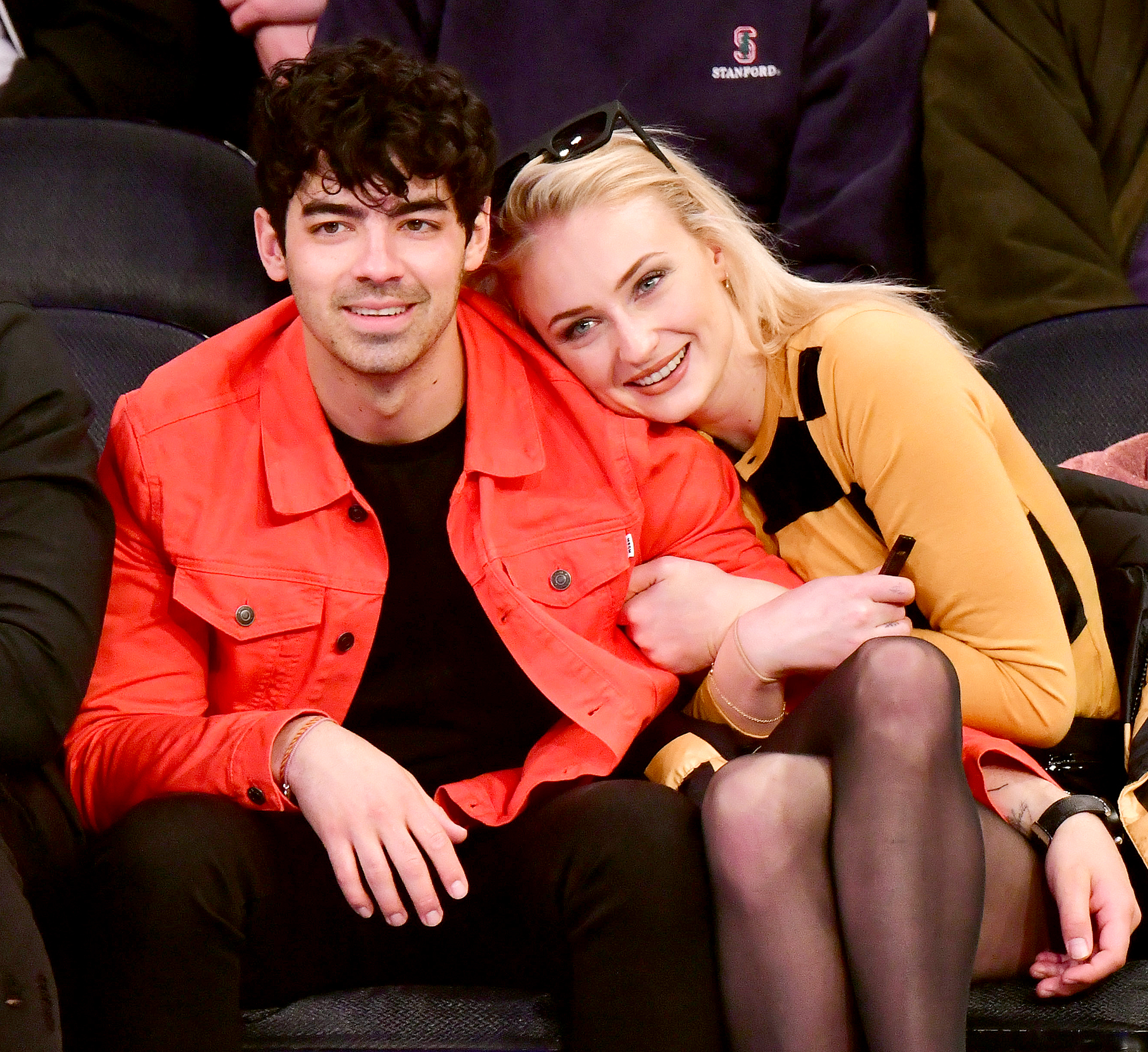 "Joe-Jonas-and-Sophie-Turner - Turner told Harper's Bazaar U.K. that she and her fiancé ""had a lot of mutual friends"" who were trying to set them up ""for a long time,"" but their relationship started when he slid into her DMs. The Game of Thrones actress noted, ""We were following each other on Instagram and he direct-messaged me one fine day, out of the blue."""