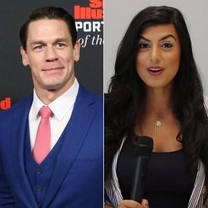 John Cena Shay Shariatzadeh Rumored Girlfriend Kiss