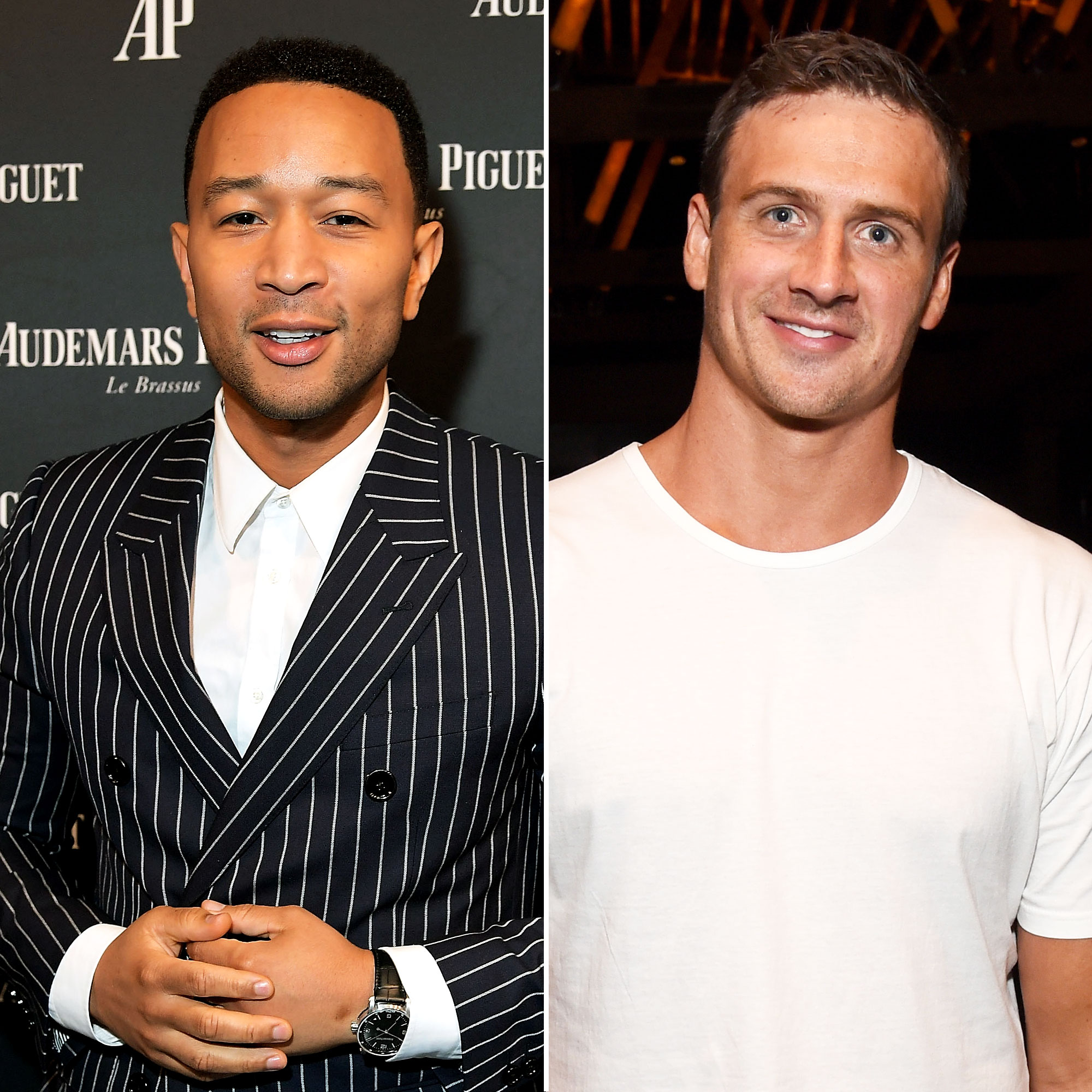 John Legend Gets 'Backyard' Swimming Lessons From Ryan Lochte
