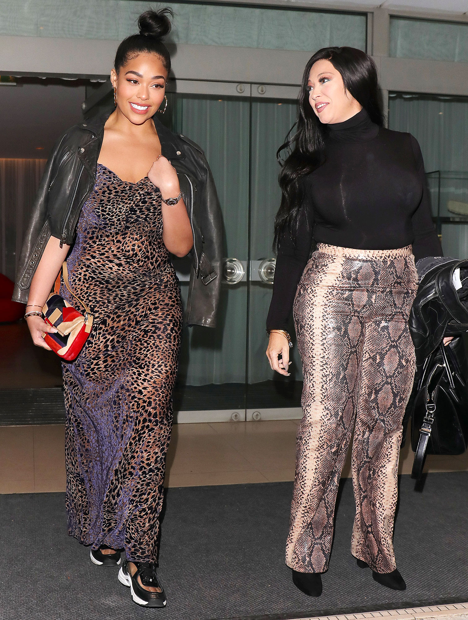 Jordyn Woods Elizabeth Woods Always Love Kylie Jenner - Jordyn Woods and Elizabeth Woods visit Scalini restaurant in London to celebrate Elizabeth's birthday and Mother's Day on March 31, 2019.