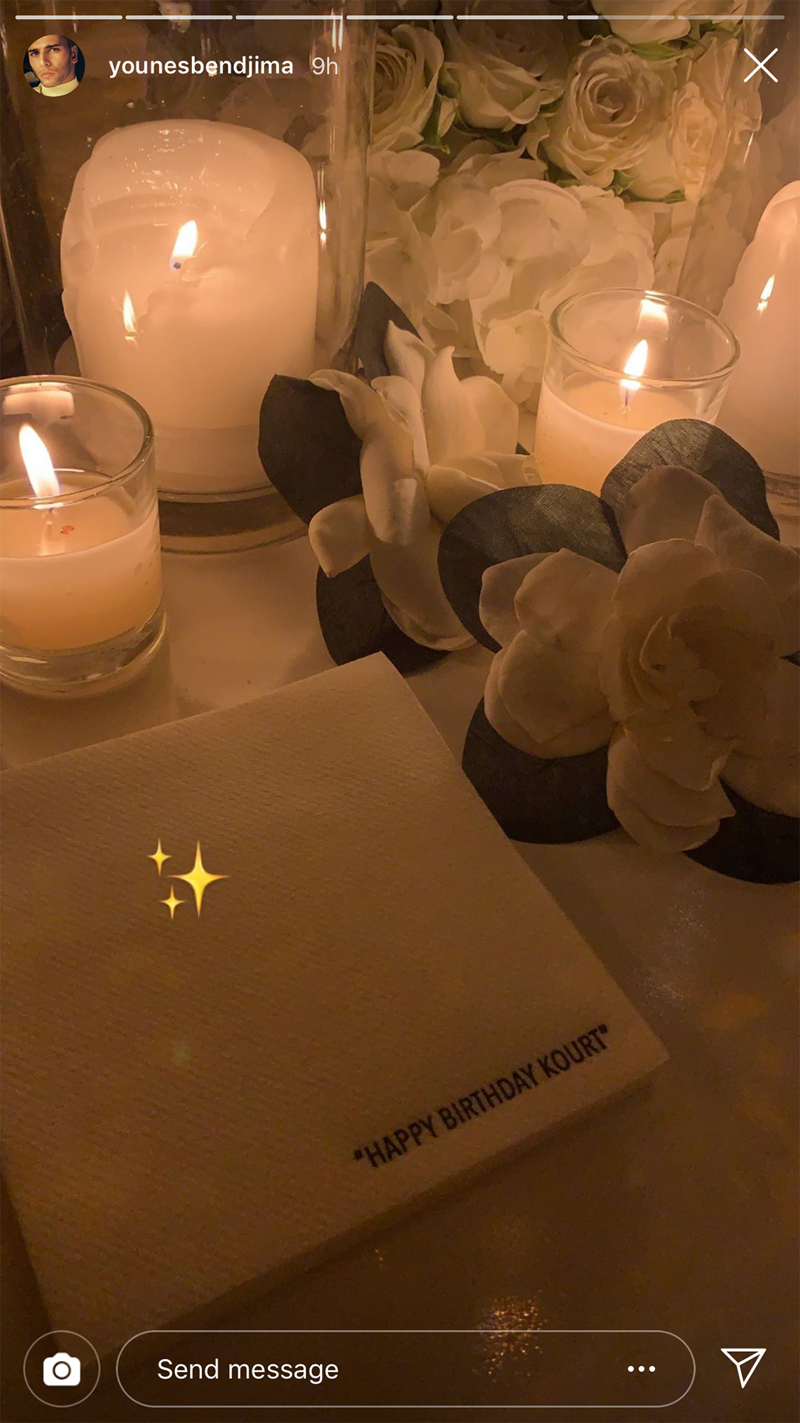 Kourtney Kardashian Birthday Party - Bendjima shared several videos from inside the party via his Instagram Story.