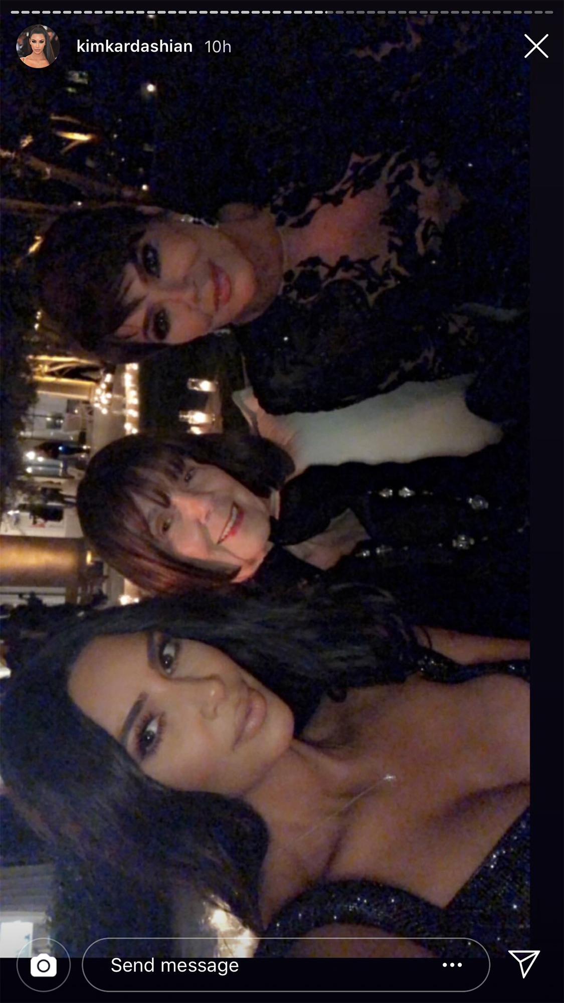 Kourtney Kardashian Birthday Party - Kim, Kris and Mary Jo took a sweet selfie.