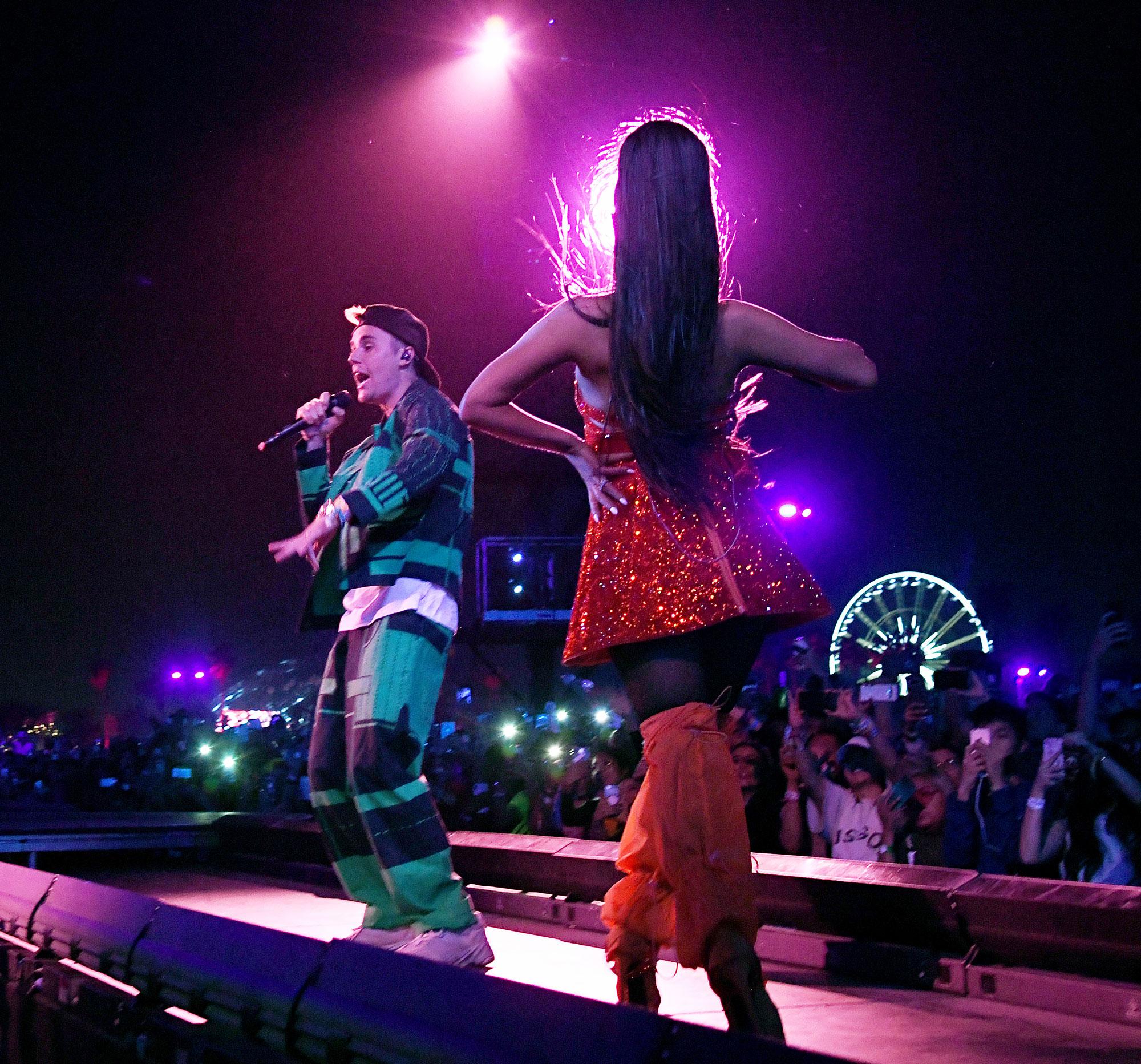 Justin Bieber Performs With Ariana Grande At Coachella 2019