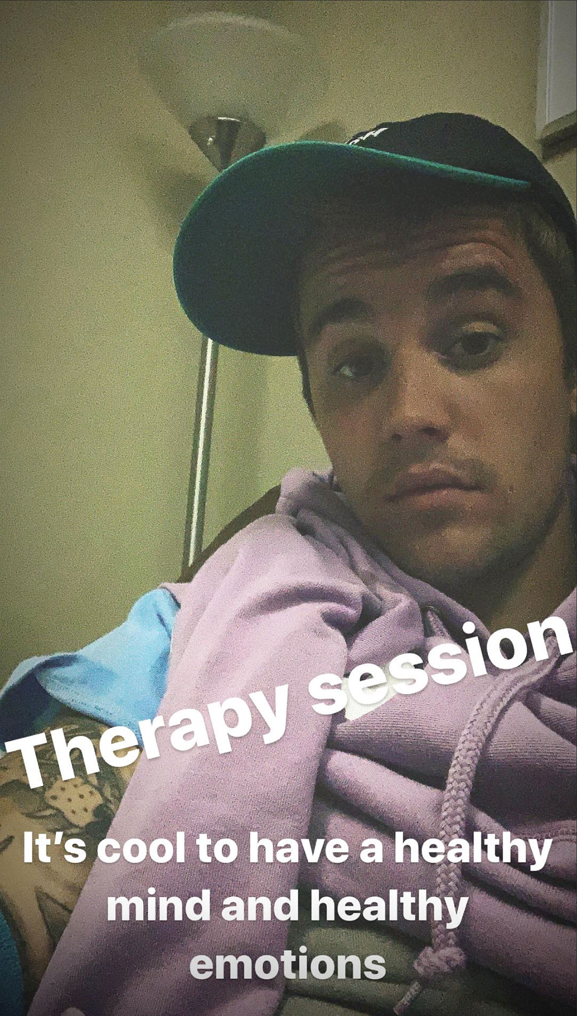 Justin Bieber Therapy Selfie Healthy Mind
