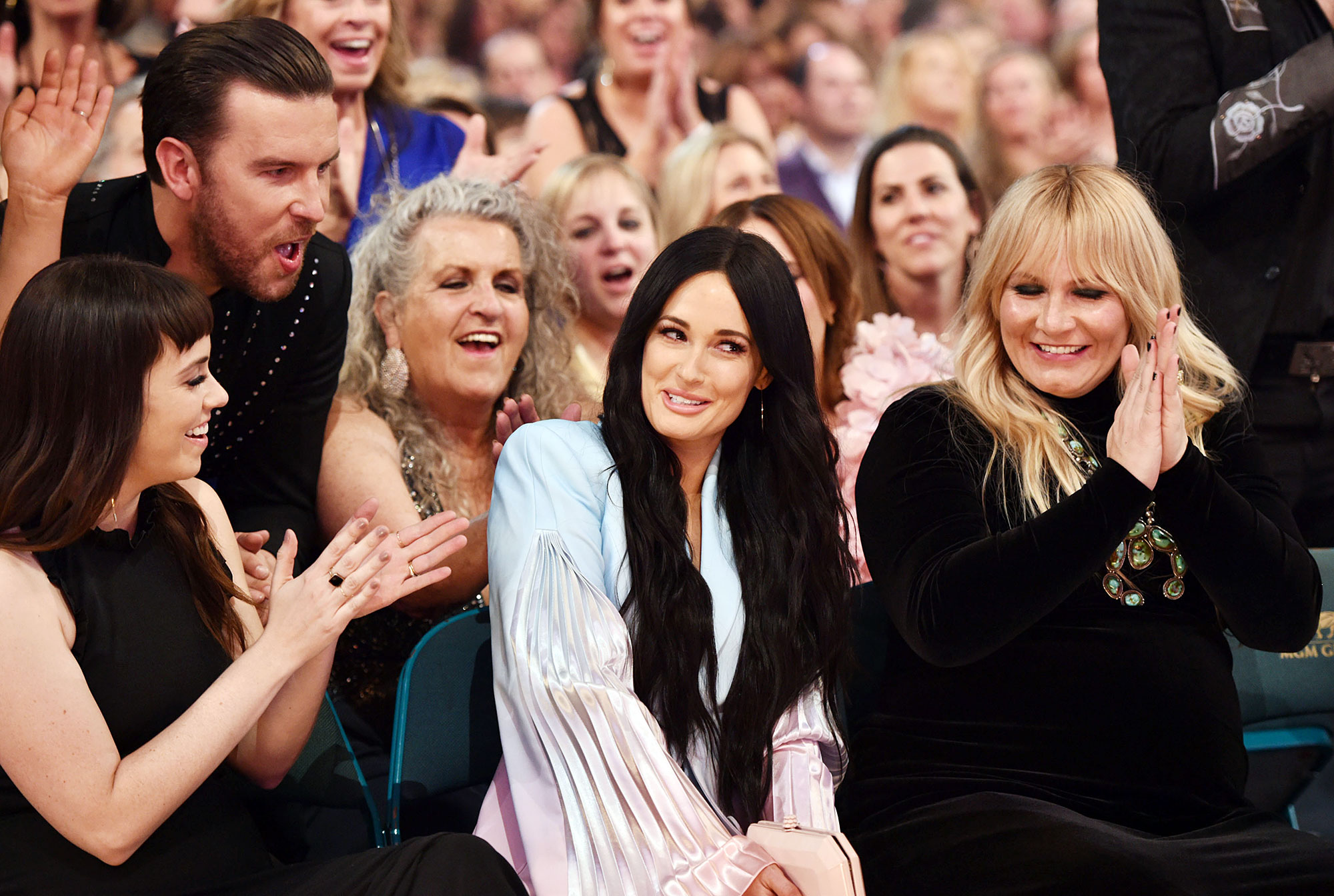 "Inside ACM Awards 2019 Kacey Musgraves - The ""Follow Your Arrow"" songstress was a vision in a tie-dye suit."