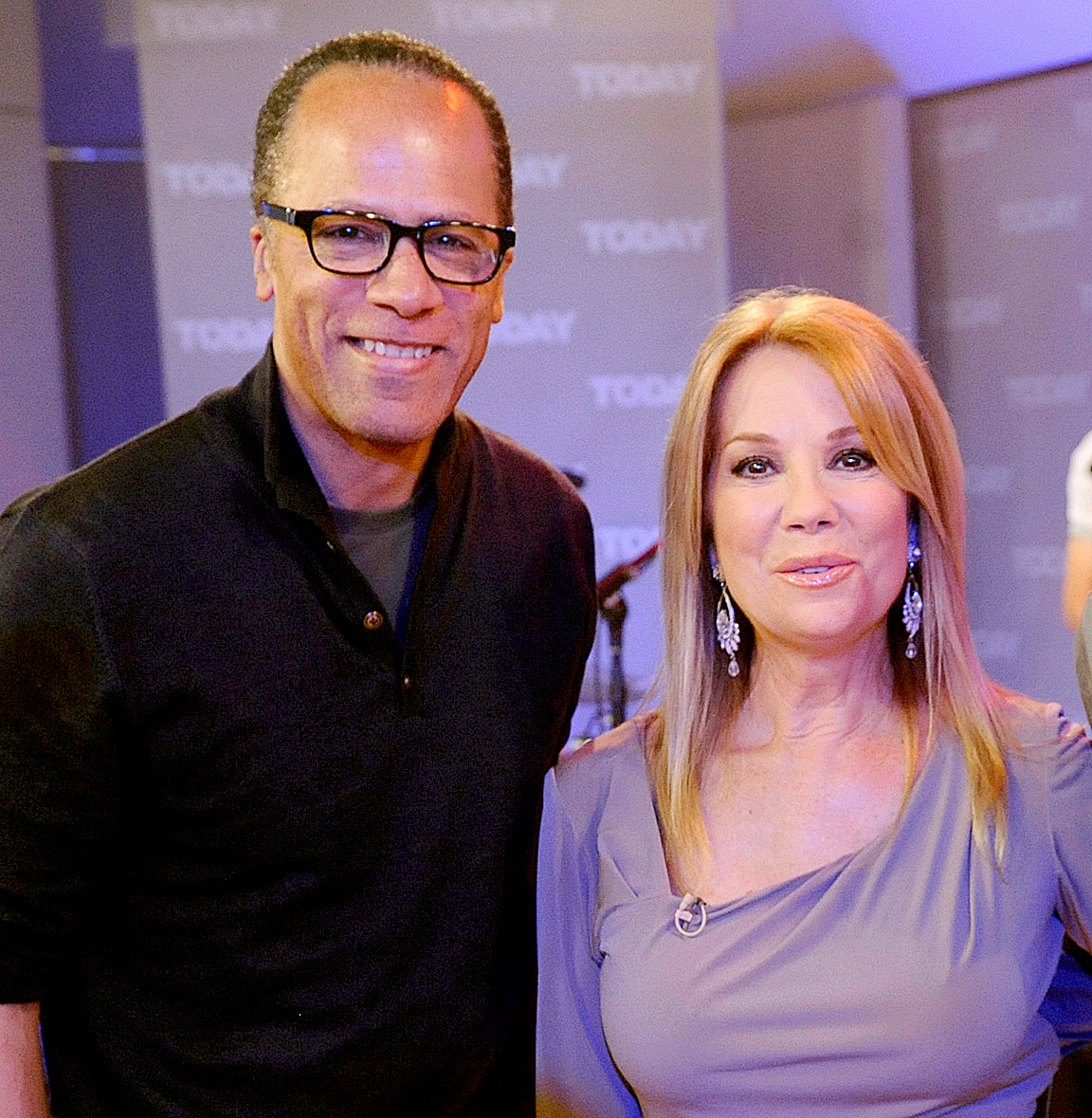 """Kathie-Lee-Gifford,-Lester-Holt - """"She just has the ability to talk about issues and really just push beyond what other people are saying. Kathie never puts any of it onto herself, as a lot of us do in this business. … With her and Hoda, there's not a mean streak in their bones. It seems like today, everything is snarky here and snarky there and their show doesn't go there and it occupies a treasured space in the TV landscape."""""""