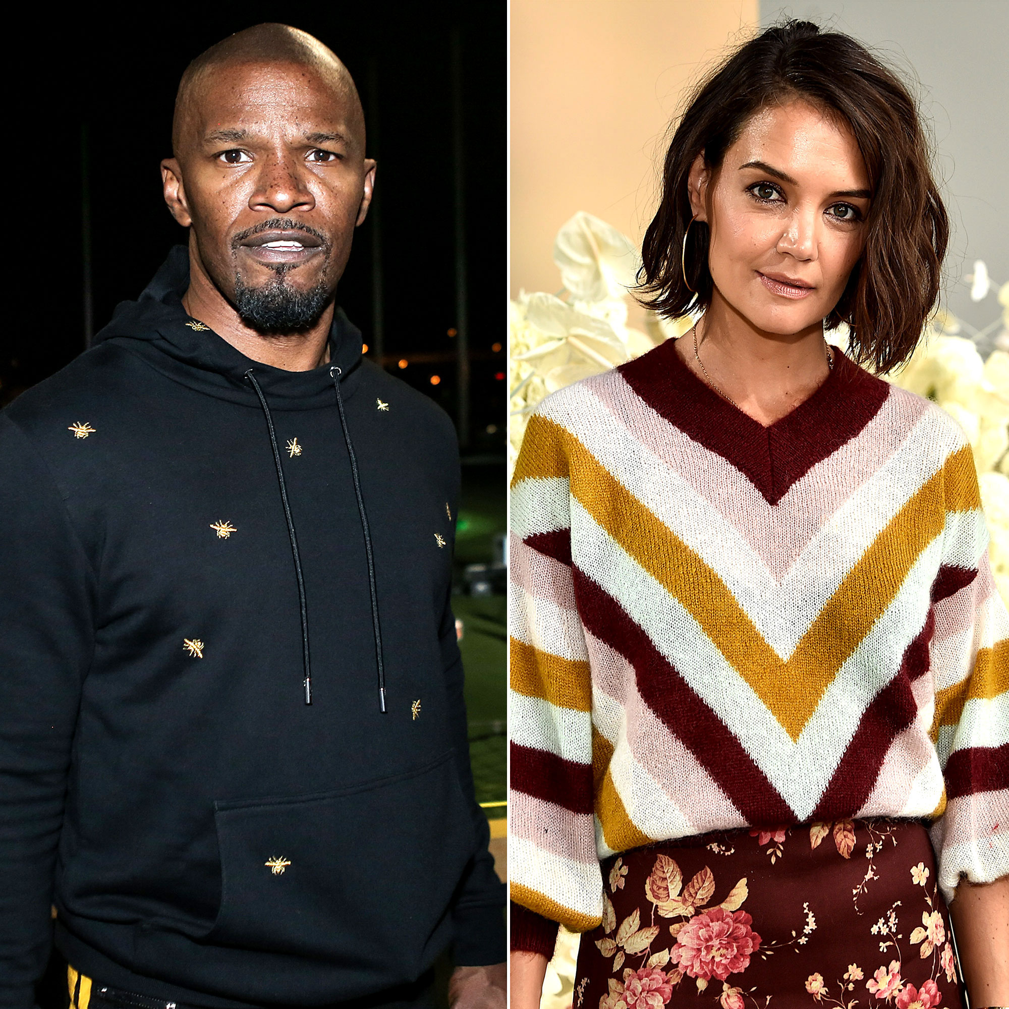 Katie Holmes Jamie Foxx Relationship Timeline Romantic Walk Split Speculation - The pair squashed breakup rumors one month later, when they were seen on a romantic stroll in New York City. Holmes and Foxx braved the chilly weather in long coats and hats as they walked through Central Park before heading to the Metropolitan Museum of Art.