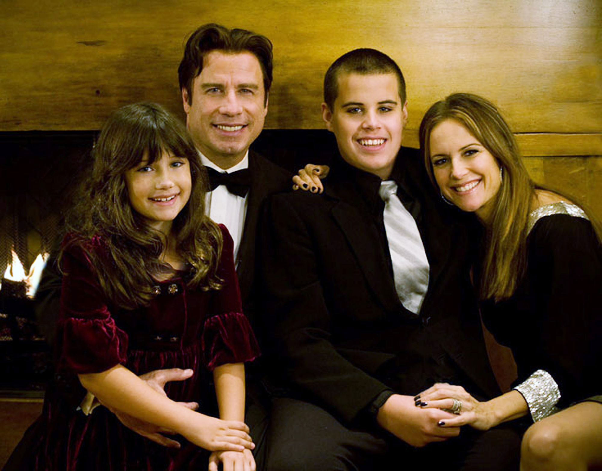 Kelly Preston Posts Heartfelt Message About Late Son Jett - John Travolta, his wife, Kelly Preston, and their children, Ella and Jett.