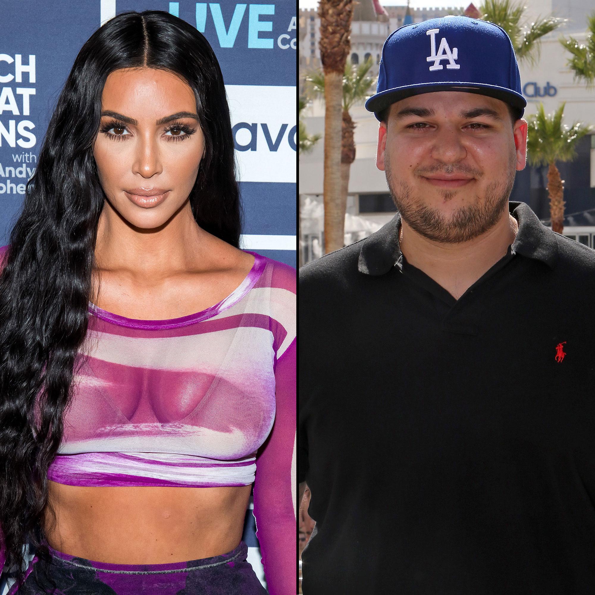 Kim Kardashian Is Considering Naming Baby No. 4 After This Family Member - Kim Kardashian and Rob Kardashian
