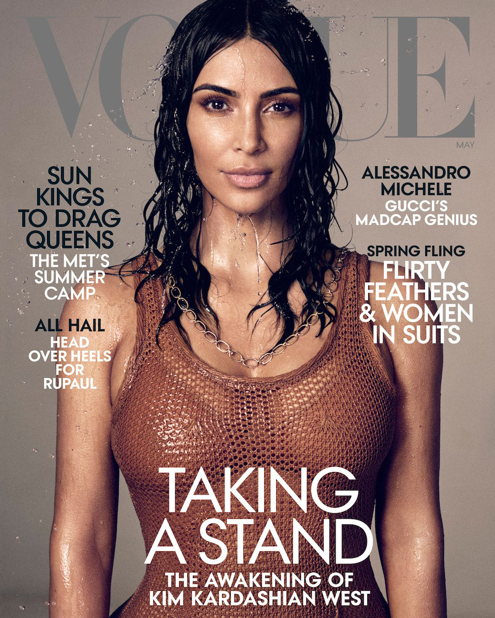 1ecc127c6 Kim Kardashian on Kanye's Health, Being a Lawyer and More in 'Vogue'