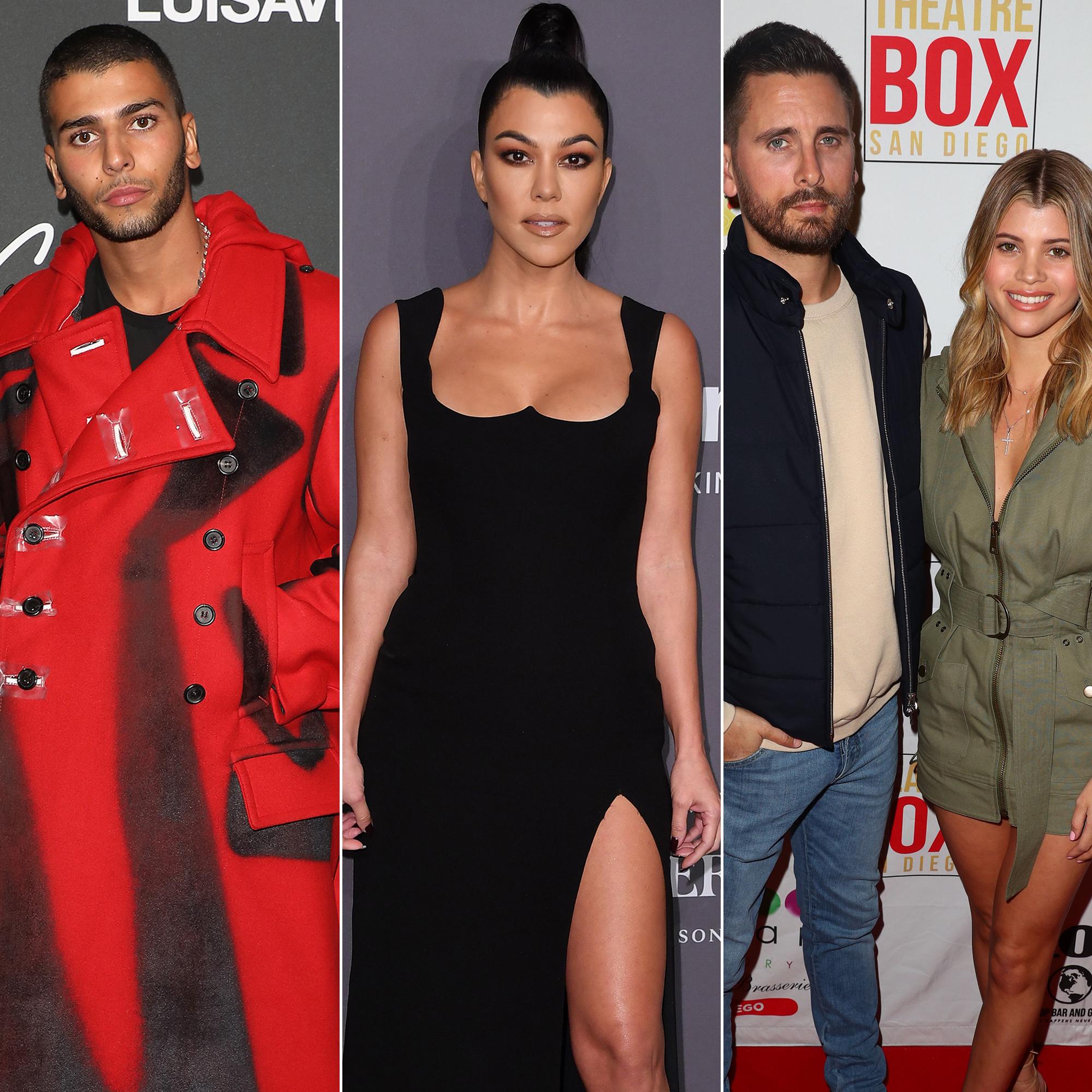 Kourtney Kardashian Birthday Party - Younes Bendjima, Kourtney Kardashian and Scott Disick with Sofia Richie.