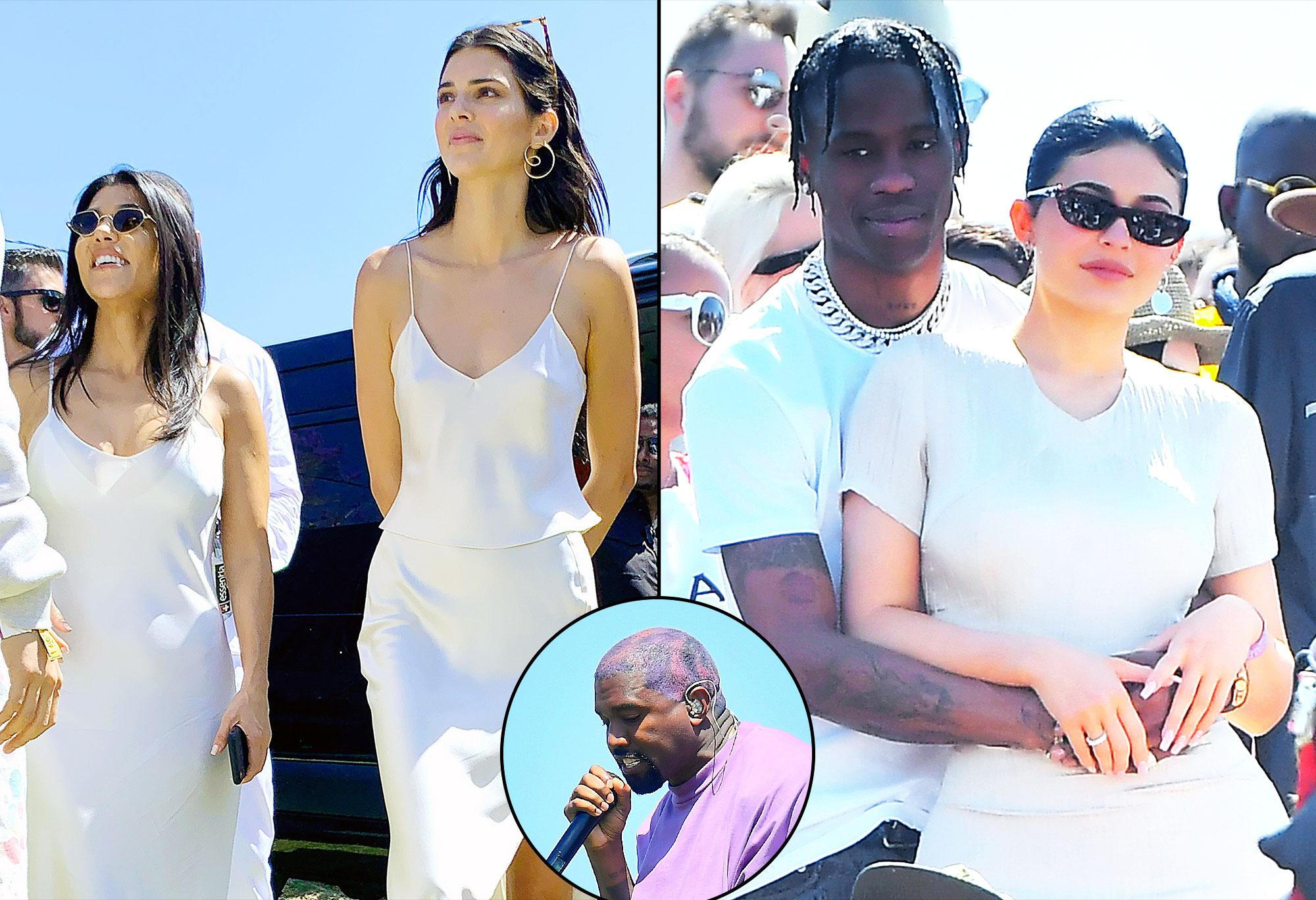 Kourtney Kardashian Kendall Jenner Travis Scott Kylie Jenner Kanye West Easter Performance Coachella 2019