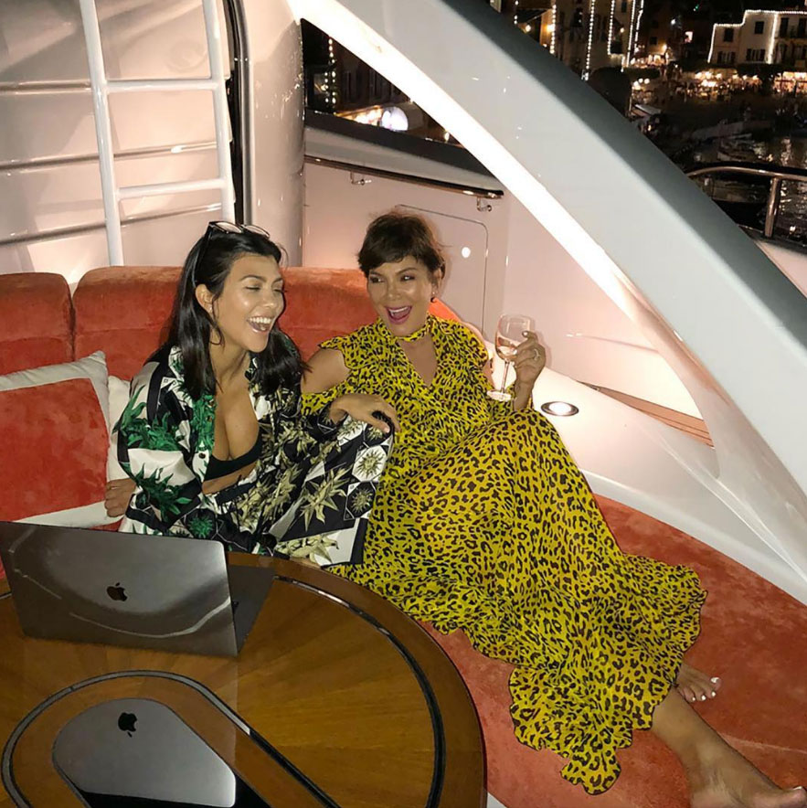 Kris Jenner Tribute to Kourtney Kardashian on Her 40th Birthday - Alongside her heartfelt post, Jenner added some sweet shots with her daughter, including a candid one of them sipping wine and giggling.