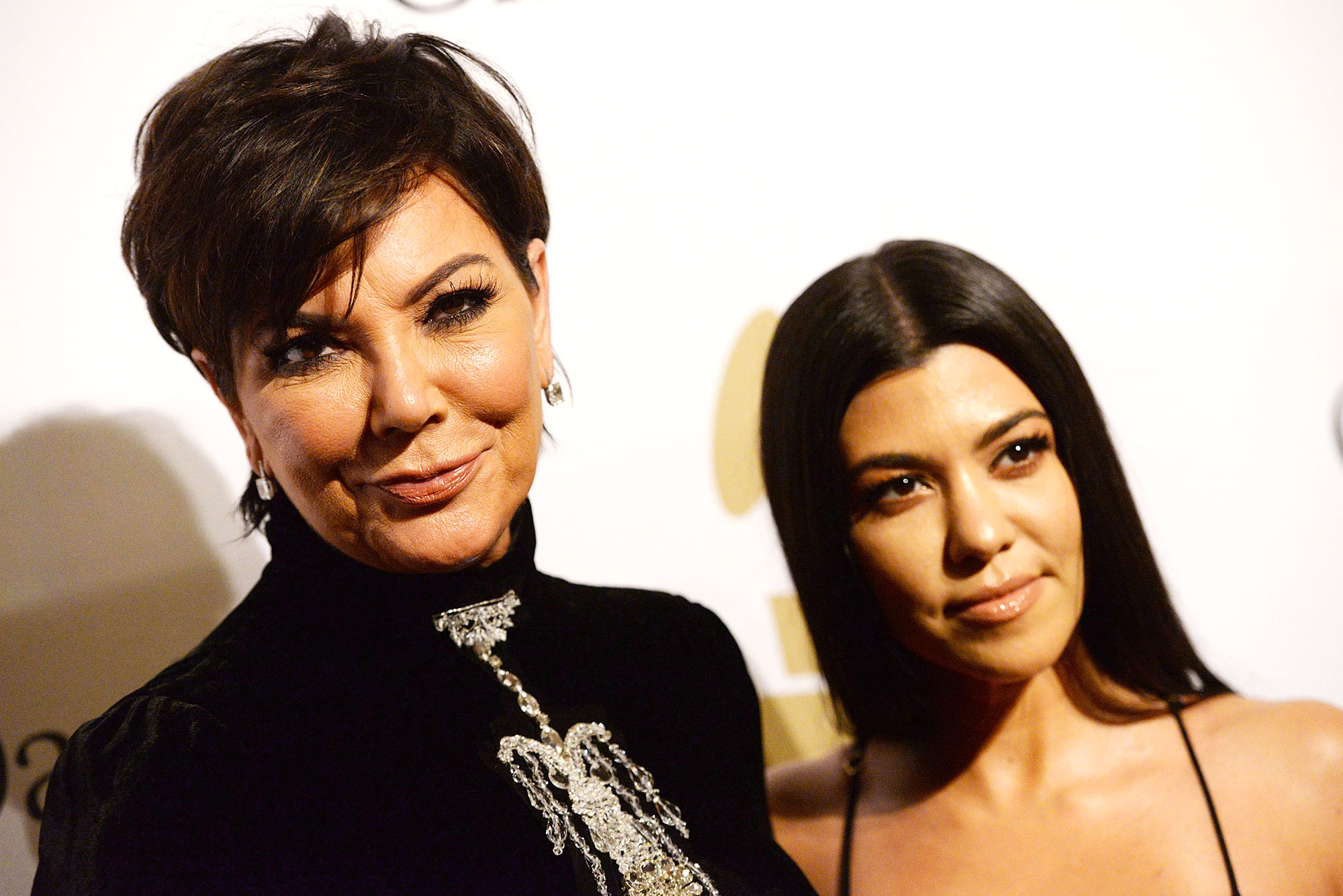 kris jenner kourtney kardashian birthday story - TV personalities Kris Jenner (L) and Kourtney Kardashian (R) walk the red carpet at the 2017 Pre-GRAMMY Gala And Salute to Industry Icons Honoring Debra Lee at The Beverly Hilton Hotel on February 11, 2017 in Beverly Hills, California.