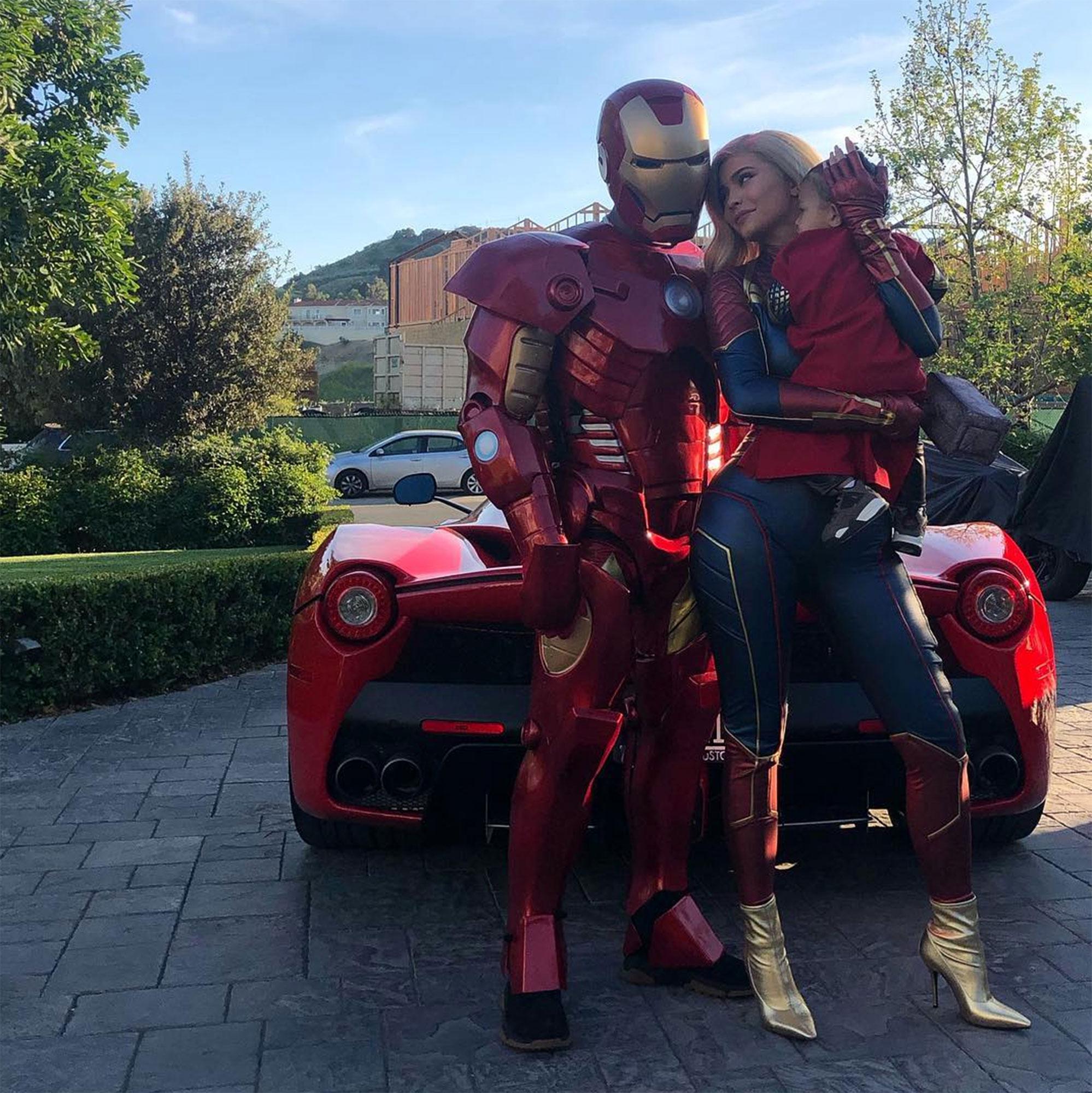 Kylie Jenner Wears Captain Marvel Costume For Travis Scotts Birthday
