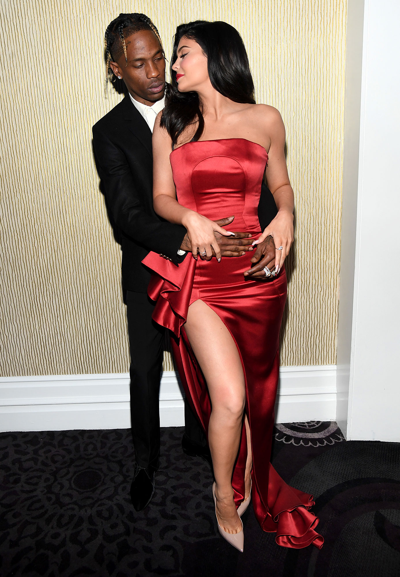 """Kylie and Travis Sweetest Quotes - Scott labeled himself as the """"Husband of the goddess K """" on Instagram while role playing in a suit of armor on April 20, 2019. """"Oh lord Webster !!"""" she replied to Scott (née Jacques Berman Webster II), """"Protect my realm."""""""