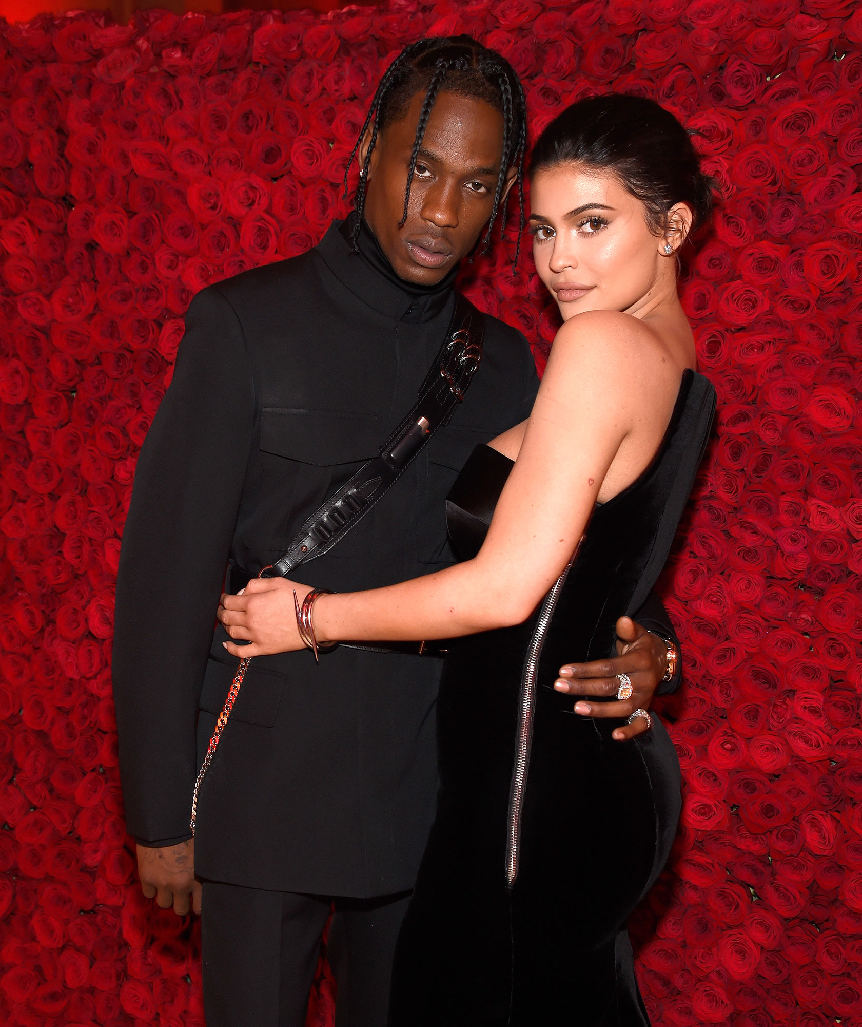 Kylie and Travis Sweetest Quotes - Travis Scott and Kylie Jenner attend the Heavenly Bodies: Fashion & The Catholic Imagination Costume Institute Gala at The Metropolitan Museum of Art on May 7, 2018 in New York City.