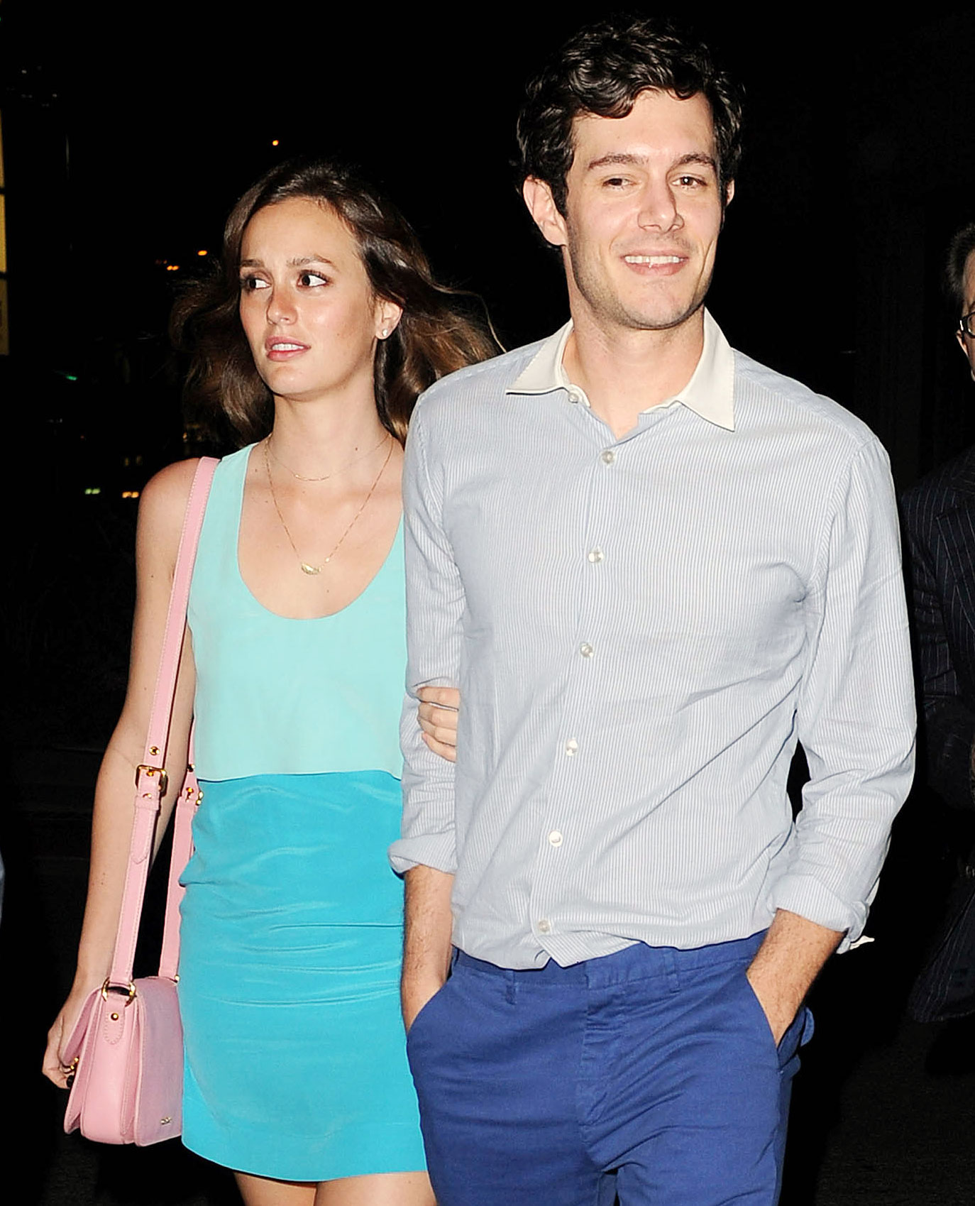 Leighton Meester Adam Brody Relationship Timeline - The pair held hands during their first public appearance as a couple in June 2013 at the premiere of Brody's film Some Girl(s) .