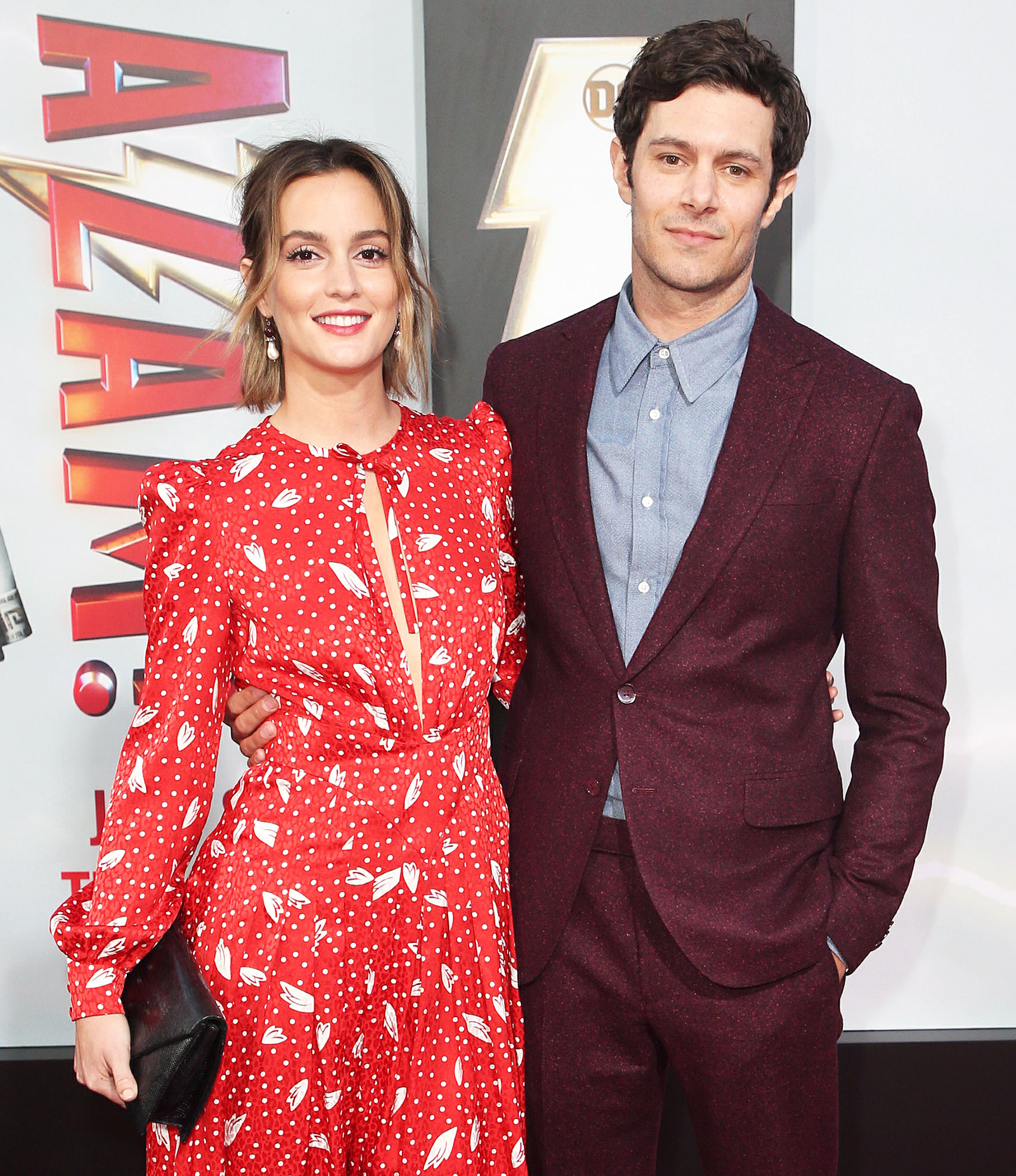 """Leighton Meester Adam Brody Relationship Timeline - Los Angeles, CA – 20190328 Celebrities and cast members arrive for the world premiere of """"Shazam!"""" from Warner Bros. Pictures And New Line Cinema."""