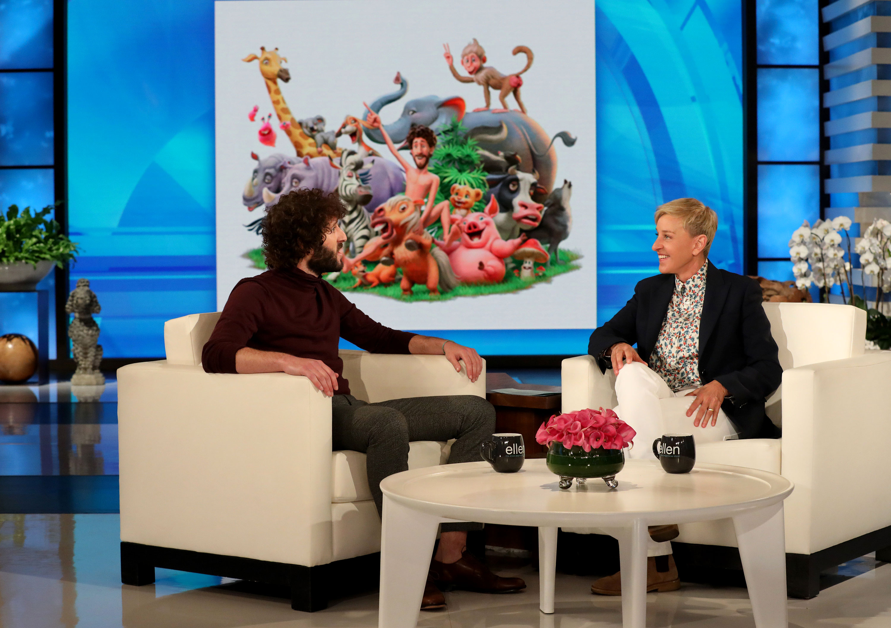 "Lil Dicky's 'Earth' Music Video Celebrity Cameos - Lil Dicky exclusively reveals a sneak peek of his new song and music video, ""Earth,"" on ""The Ellen DeGeneres Show"" airing Thursday, April 18th."