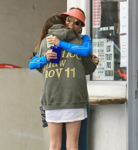 Lori Loughlin receives a warm hug from daughter Isabella Rose Giannulli