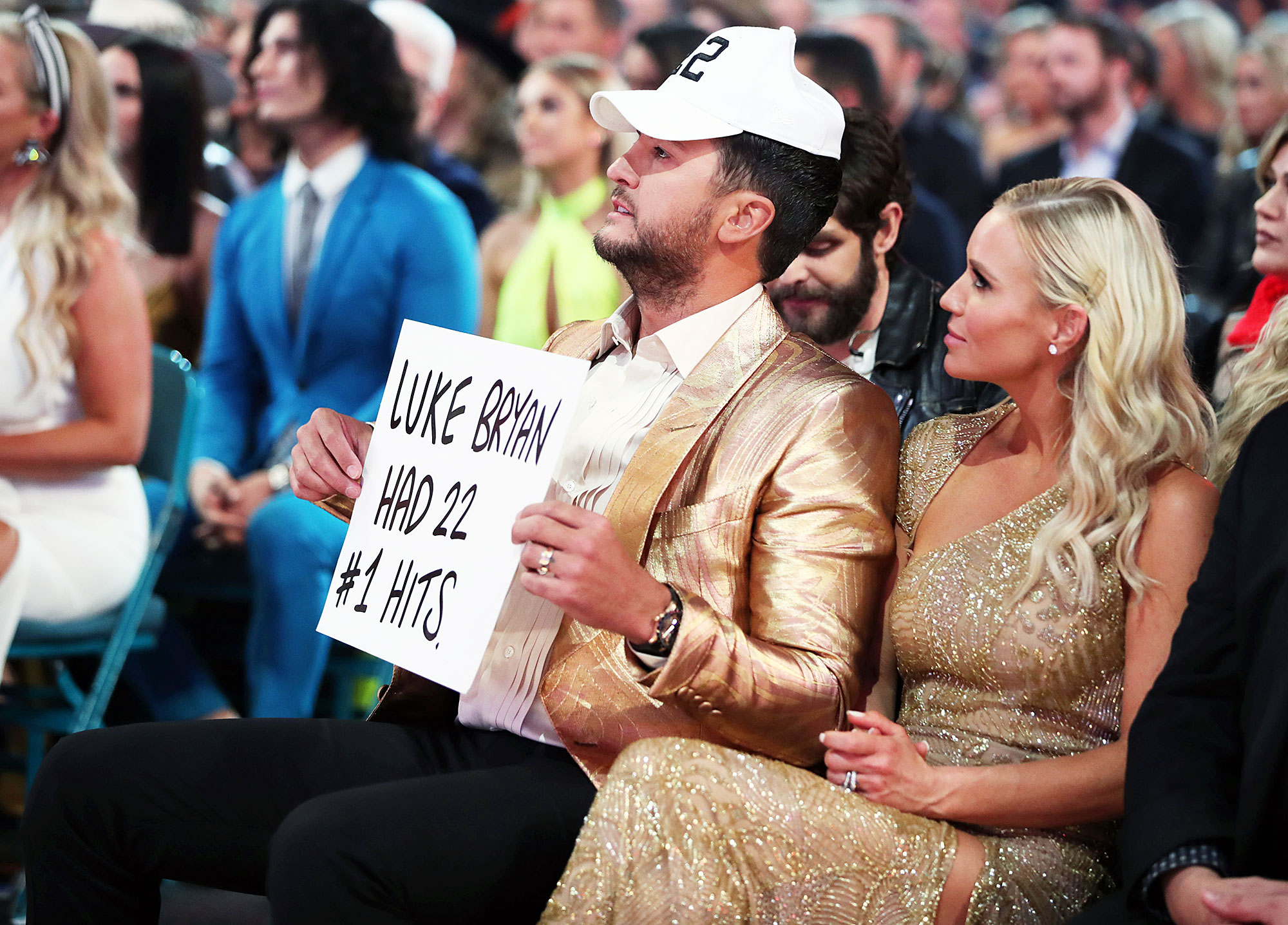 Inside ACM Awards 2019 Luke Bryan Caroline Boyer - Luke Bryan and his wife, Caroline Boyer , stole the show in gold ensembles.