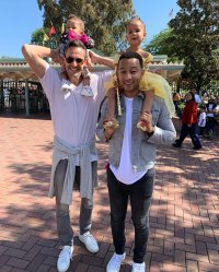 Luna Legend in Princess Dresses With John Legend Mike Rosenthal and Miles