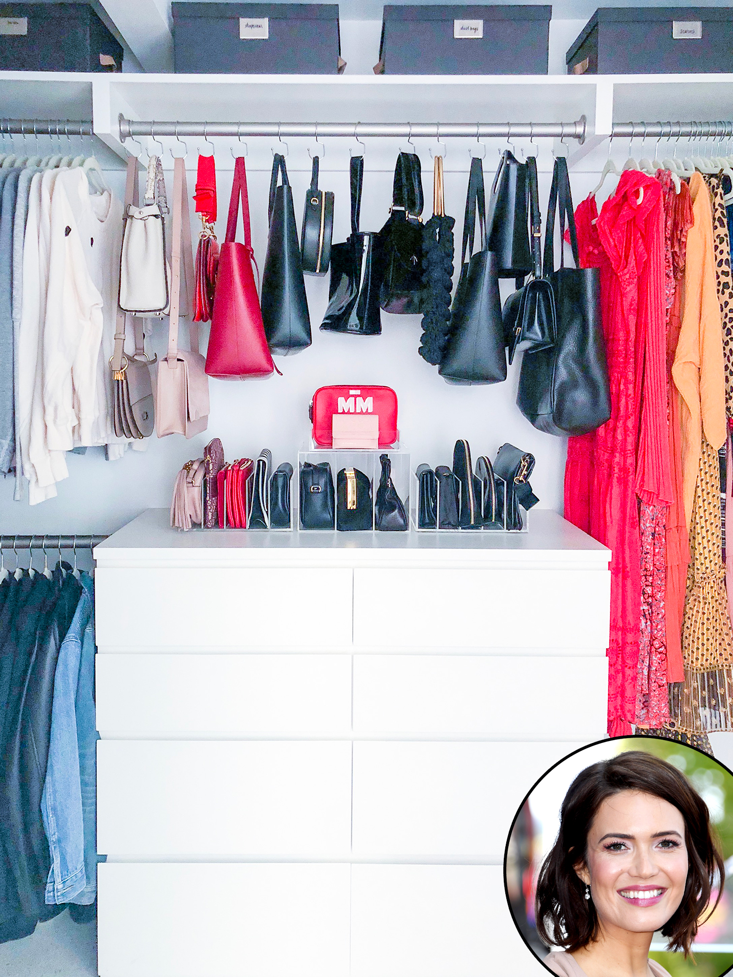 "Mandy-Moore-Closet - ""We just wanted to highlight the beautiful things that she has,"" Shearer tells Us of Moore's closet."