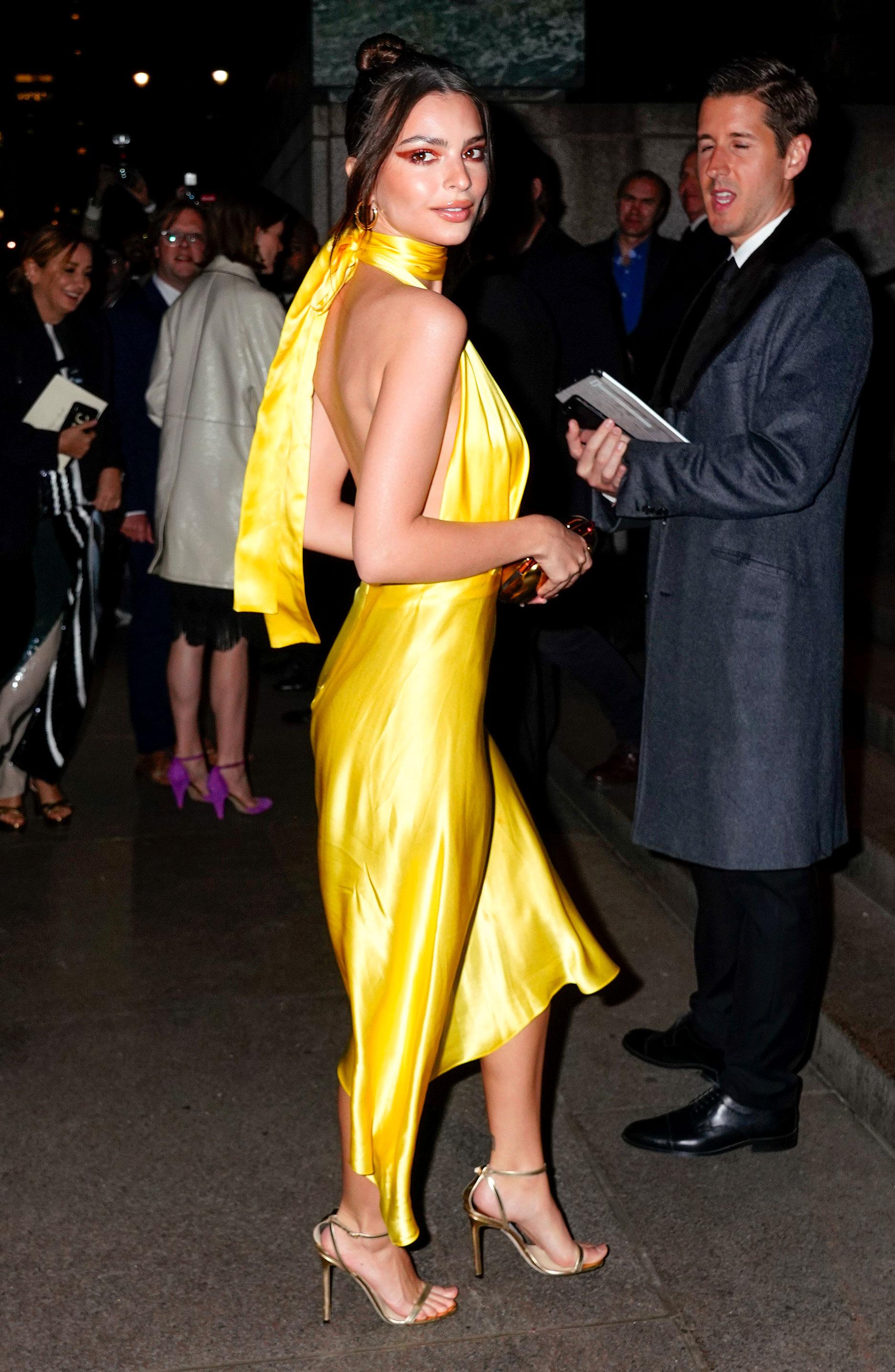 Marc-Jacob-and-Char-DeFrancesco-wedding-reception Emily Ratajkowski - Ratajkowski rocked a vibrant yellow dress for the occasion.