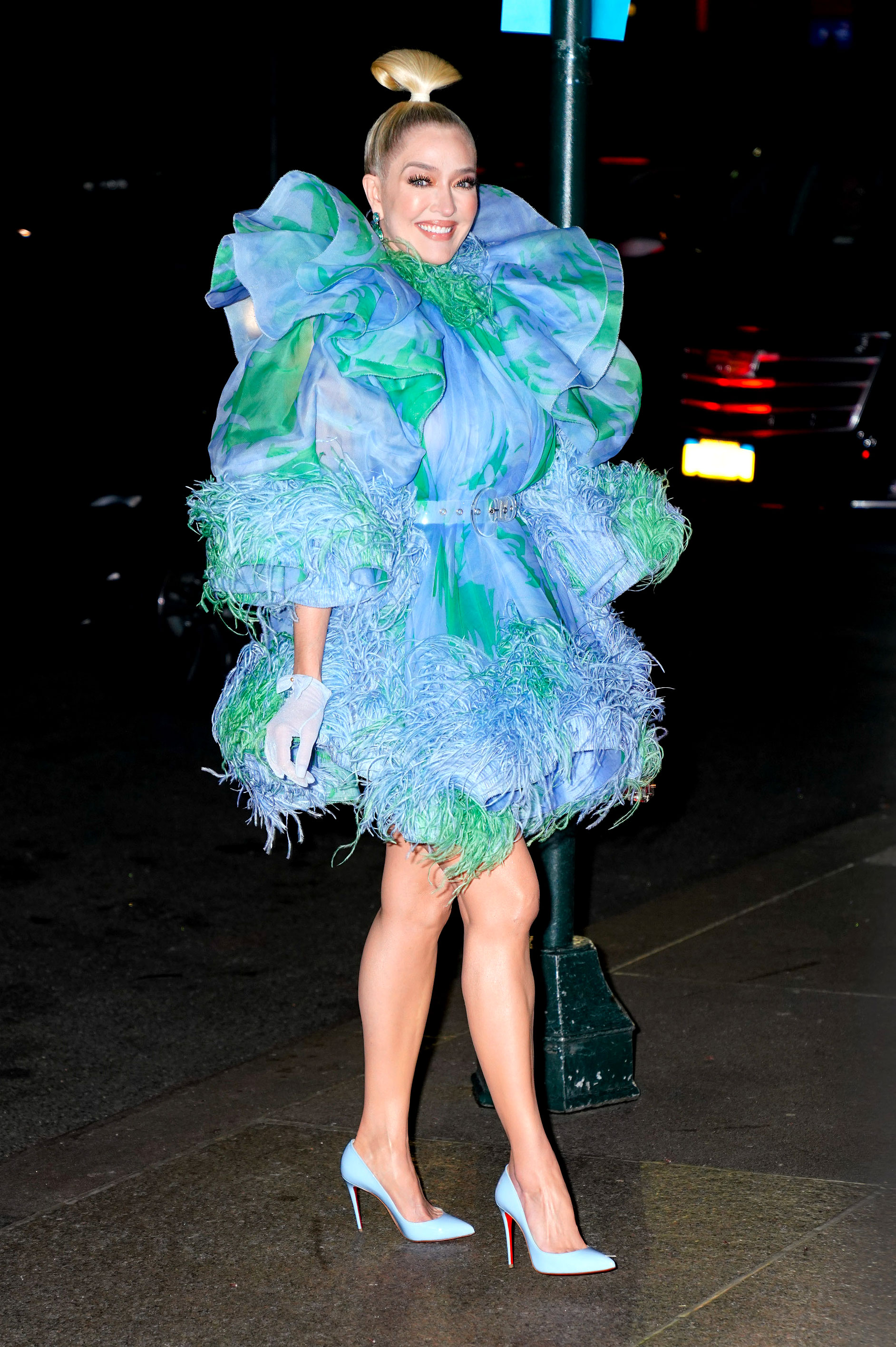 Marc-Jacob-and-Char-DeFrancesco-wedding-reception Erica Jayne - Real Housewives of Beverly Hills star Erika Jayne made a statement with a blue and green, puffy mini-dress.