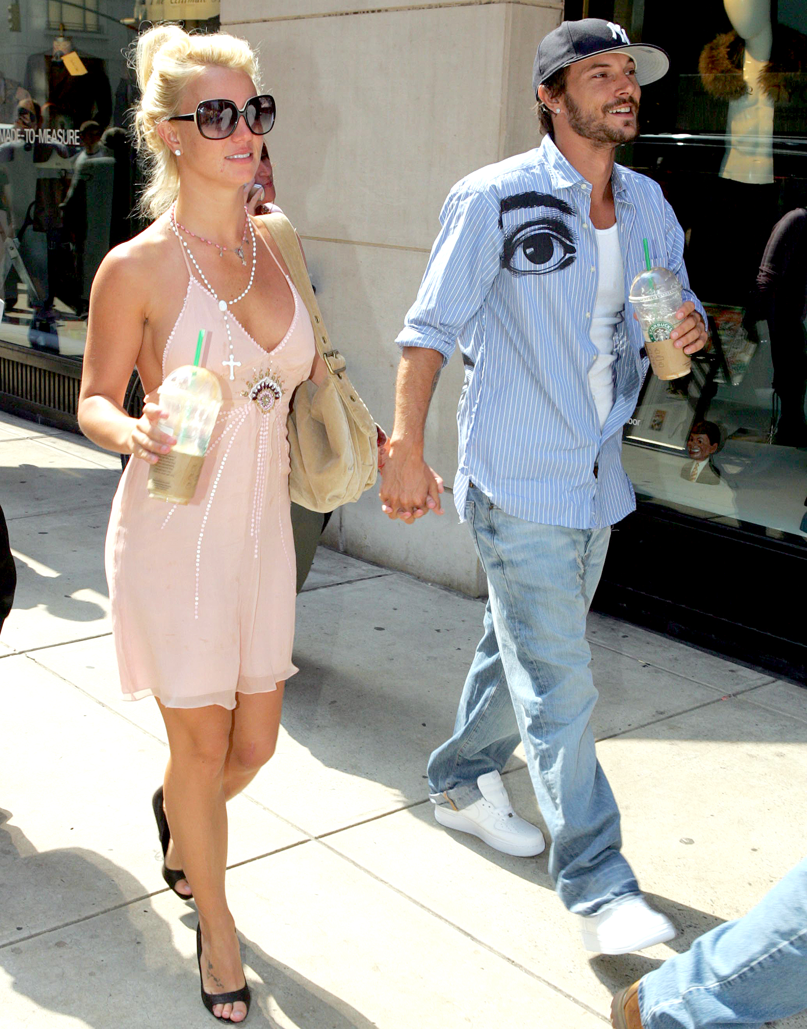 """March-2013-Kevin-Federline,-Britney-Spears - It was a different story by March 2013: The """"Hold It Against Me"""" singer not only joined Federline to cheer their sons on at a soccer game, but also hung out with his then-girlfriend (now wife) Victoria Prince ."""
