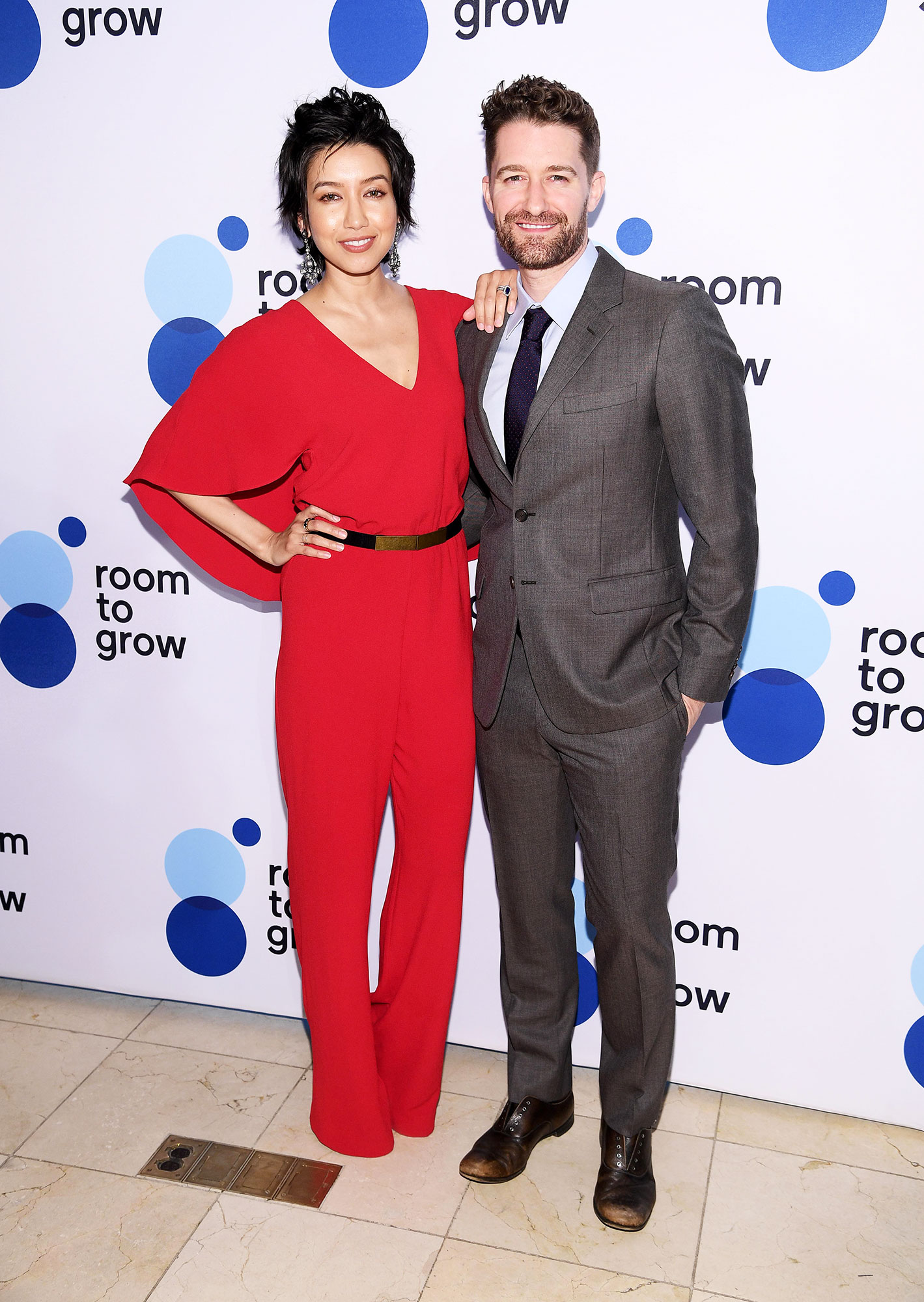"""Matthew Morrison Reveals When He'll Let His Son Watch Him 'in His Prime' on 'Glee' - Renee Puente and Matthew Morrison attend """"Room To Grow"""" Spring Benefit at Guastavino's on April 04, 2019 in New York City."""
