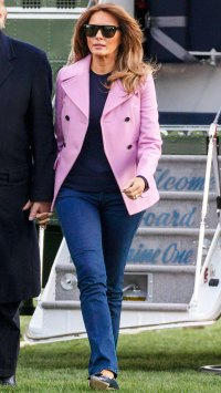 Melania Trump Looks Low-Key Chic in Jeans and the Perfect Spring Jacket