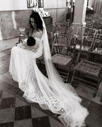 Michelle Branch Breastfeeding Wedding Dress