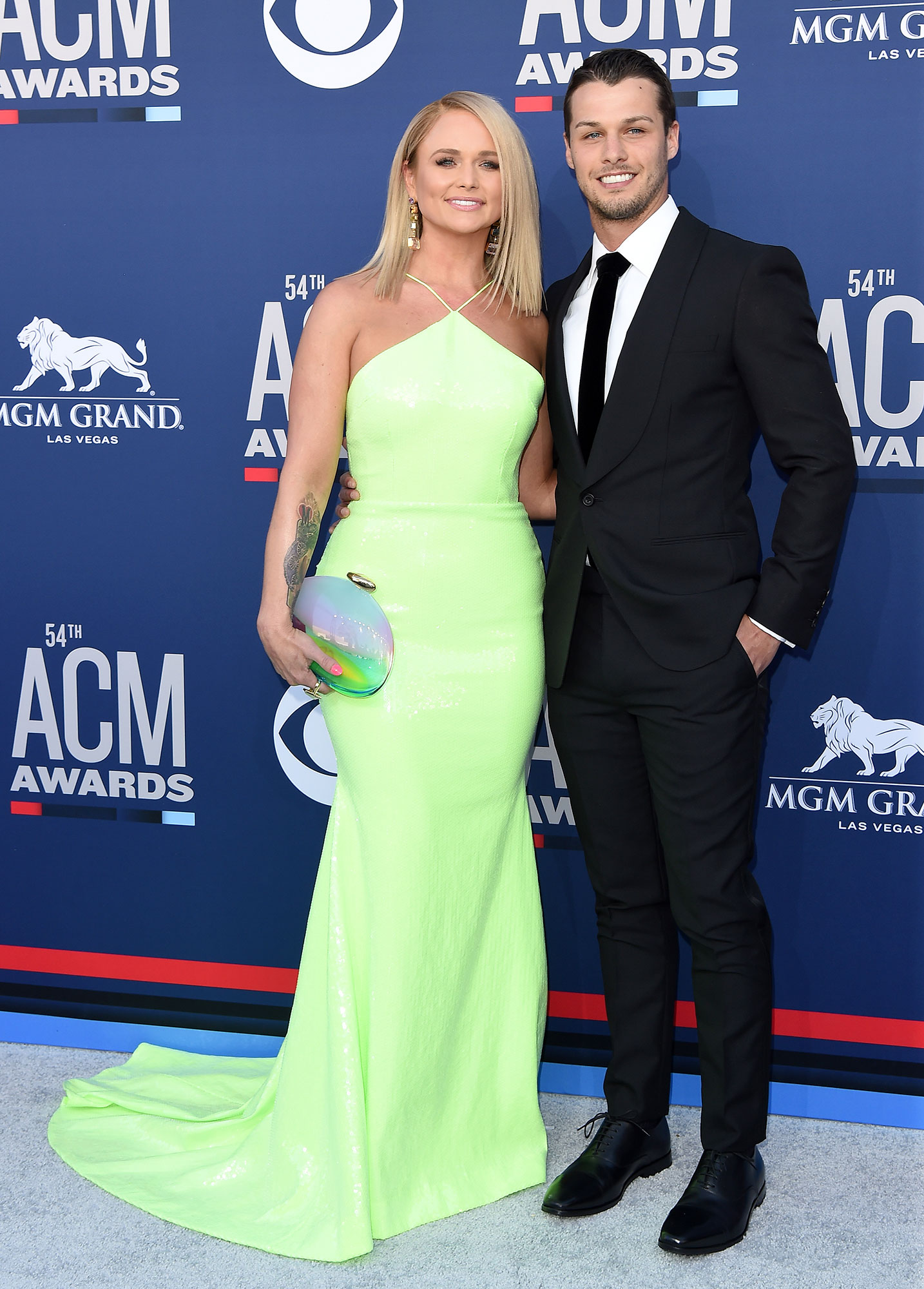 Miranda Lambert and Brendan McLoughlin ACM Awards - LAS VEGAS, NEVADA – APRIL 07: Miranda Lambert and Brendan McLoughlin attend the 54th Academy of Country Music Awards at MGM Grand Garden Arena on April 07, 2019 in Las Vegas, Nevada. (Photo by Axelle/Bauer-Griffin/FilmMagic)