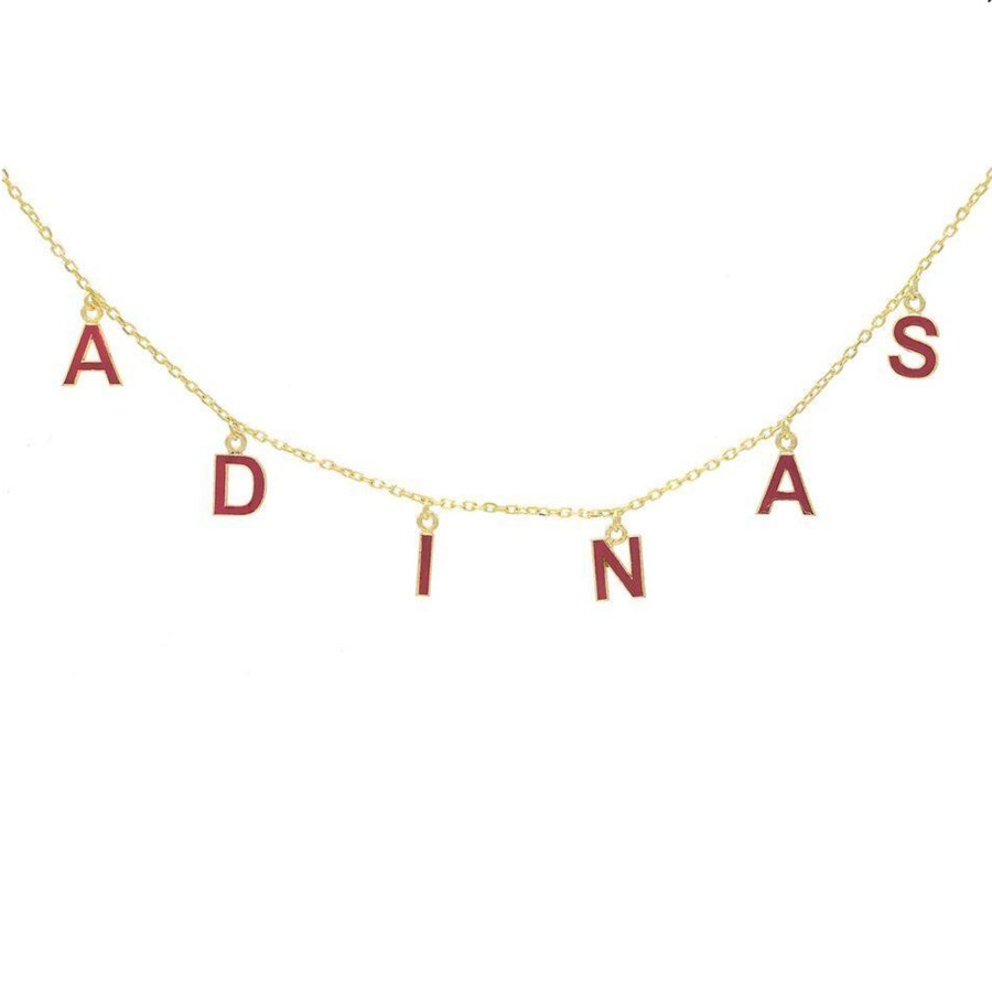 Mother's Day Gift Guide 2019 Adina's Jewels Black Name Enamel Necklace