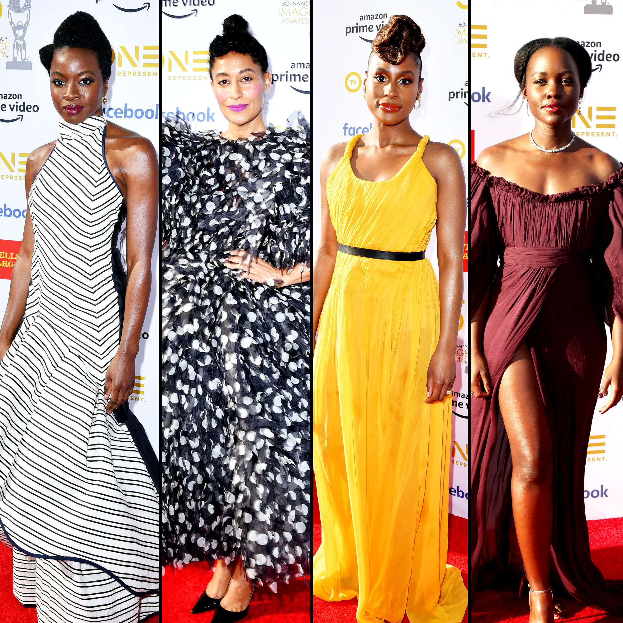 Danai Gurira Tracee Ellis Ross Issa Rae Lupita Nyong'o See the Stars at the NAACP Image Awards