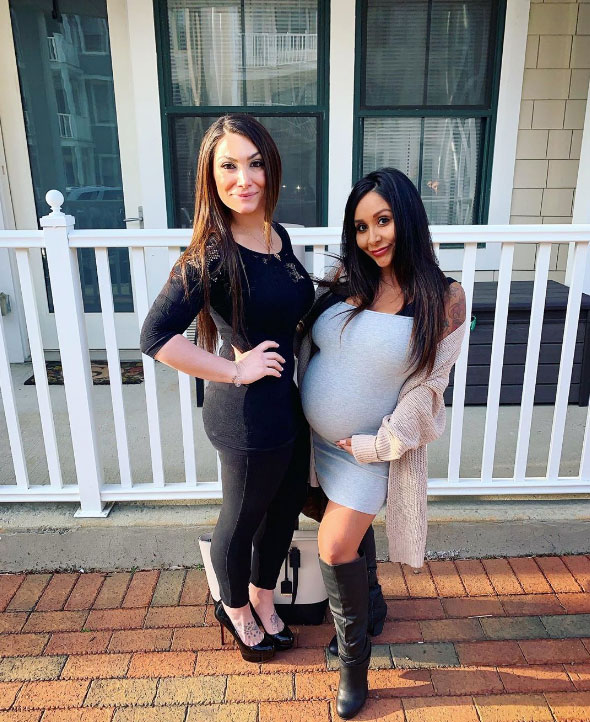 Nicole 'Snooki' Shows Off Baby Bump While Deena Nicole Cortese Reveals Post-Baby Weight Loss - Nicole 'Snookie' Polizzi and Deena Nicole Cortese