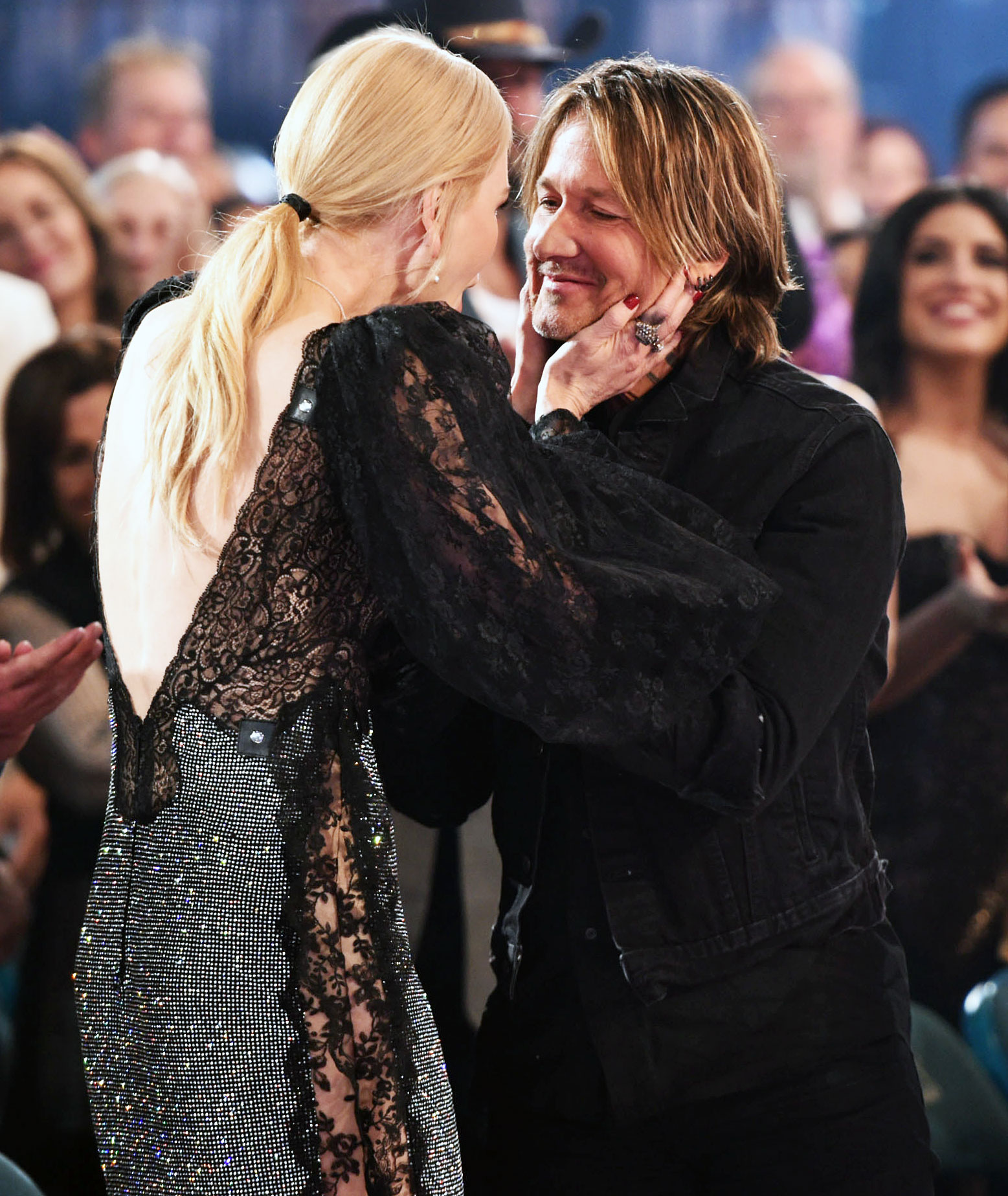 "Inside ACM Awards 2019 Nicole Kidman Keith Urban - The Big Little Lies actress and the ""Cop Car"" crooner didn't shy away from packing on the PDA."