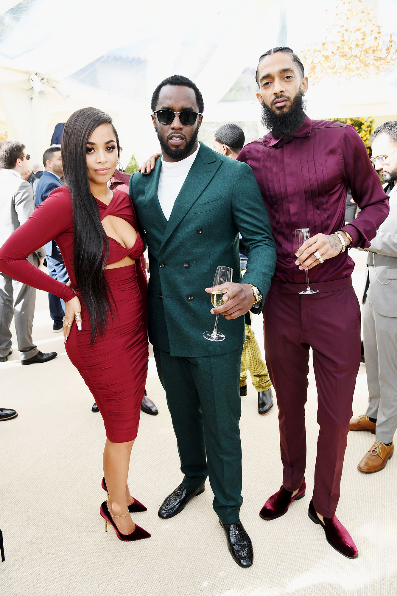 "Nipsey Hussle gallery - Lauren London, Diddy and Nipsey Hussle - ""Wow. I don't even know what to say. I'm confused,"" the Bad Boy Records founder tweeted . ""Nipsey and I had just started really getting to know each other. I feel honored to have worked on his project. Nipsey represents change, he represents evolution, he represents everything our culture needs to embrace. Black ownership. Black love. Black wealth. God bless you and your family King. @LaurenLondon whatever you need we are here for you. My family is your family."""